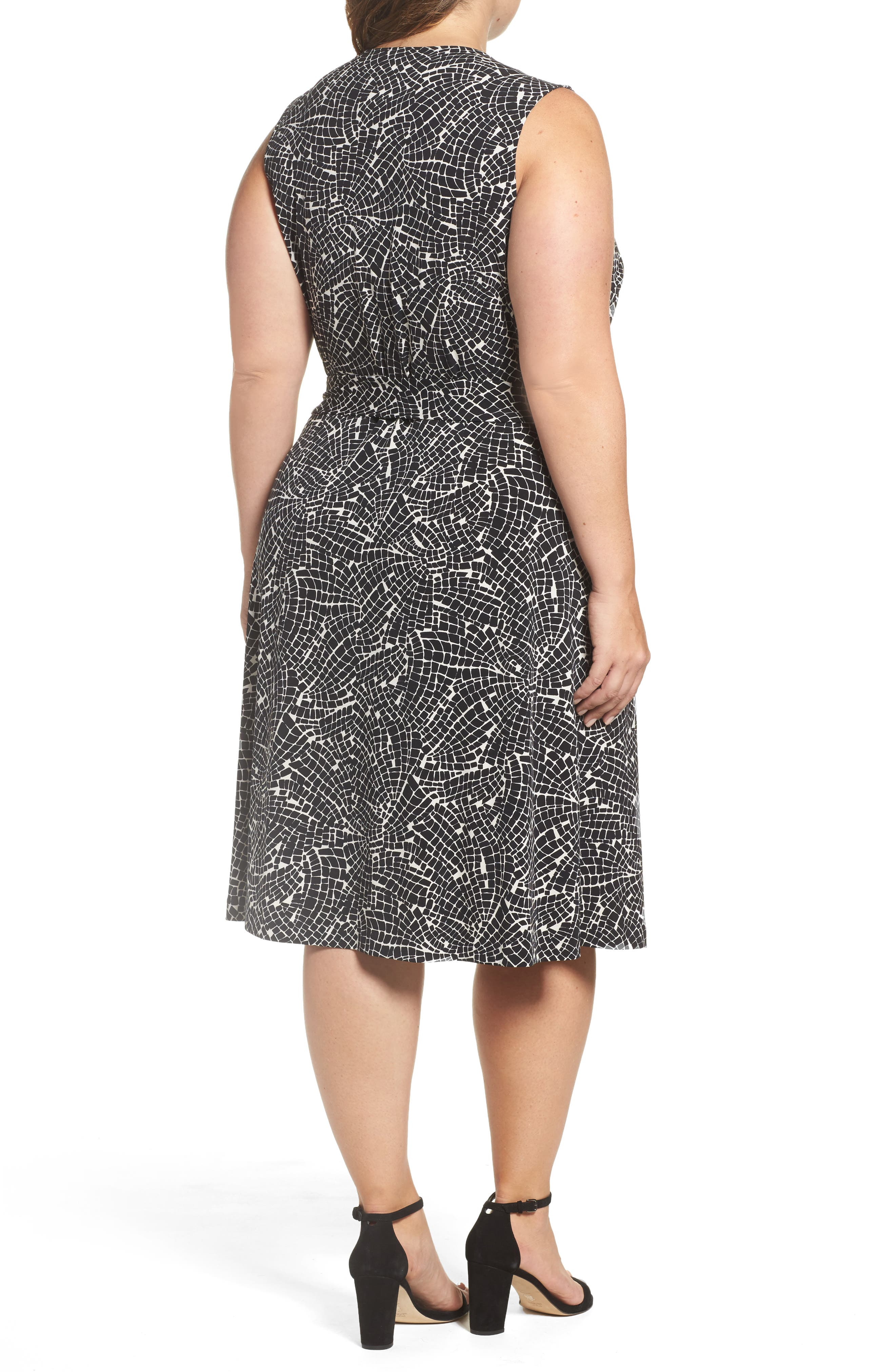 Modern Mosaic Wrap Dress,                             Alternate thumbnail 2, color,                             001