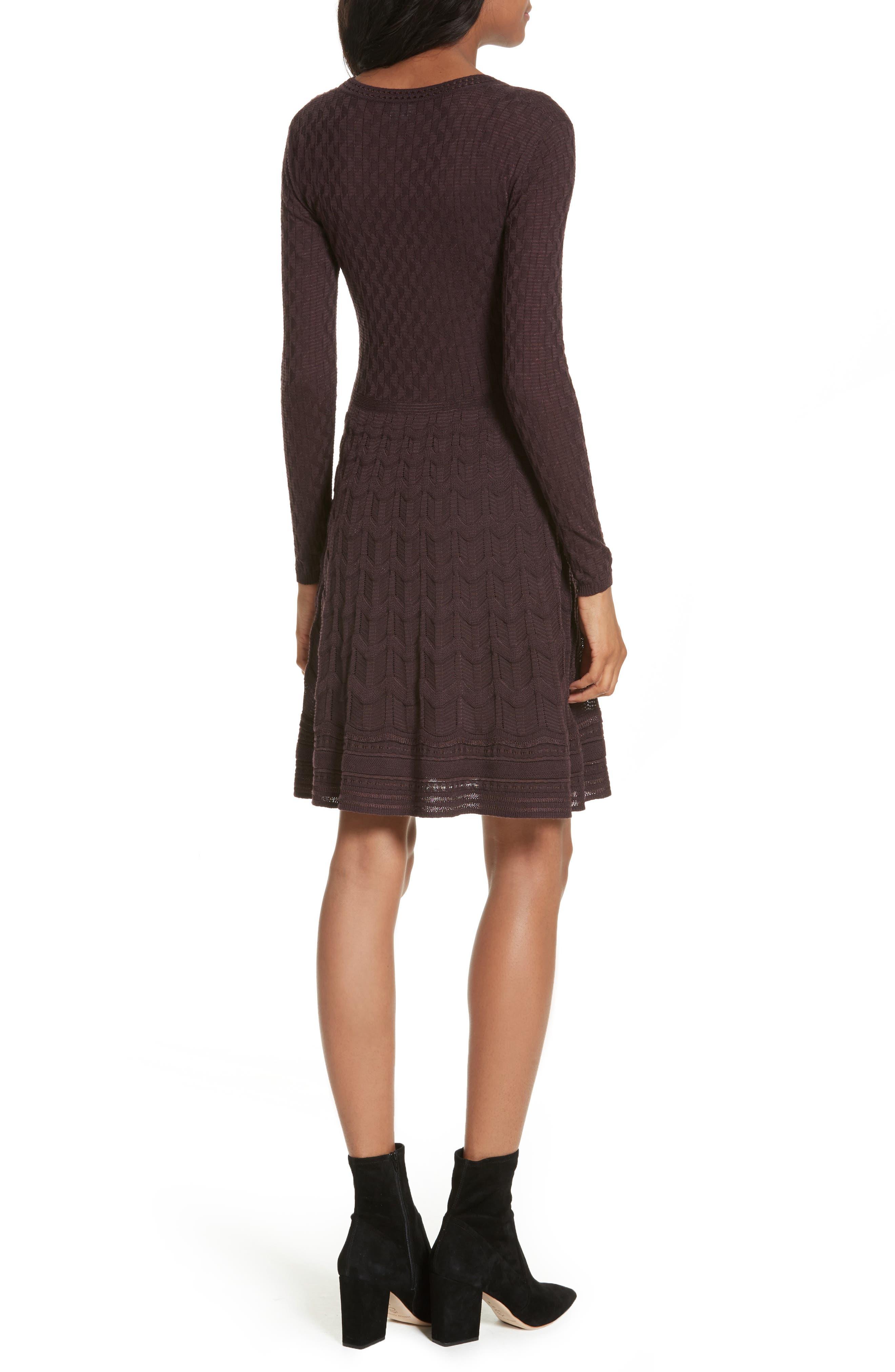 Wool Blend Knit A-Line Dress,                             Alternate thumbnail 2, color,                             570