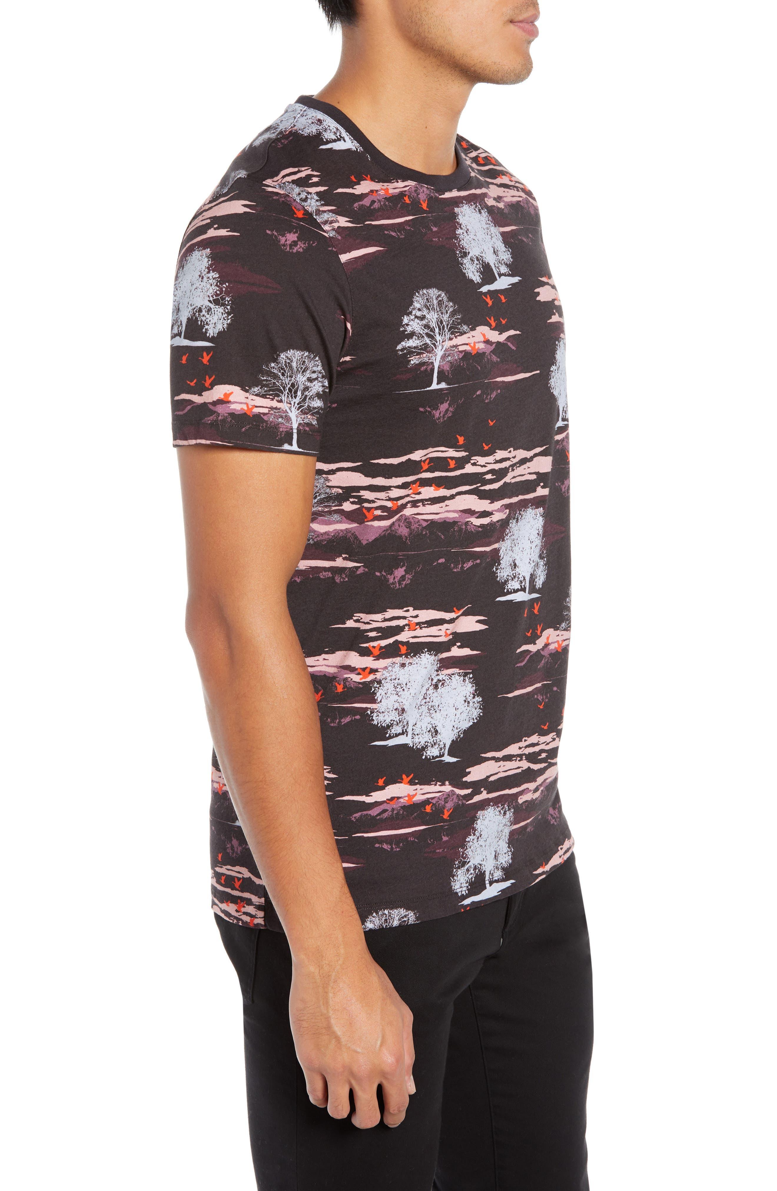 Happie Slim Fit Print T-Shirt,                             Alternate thumbnail 3, color,                             601