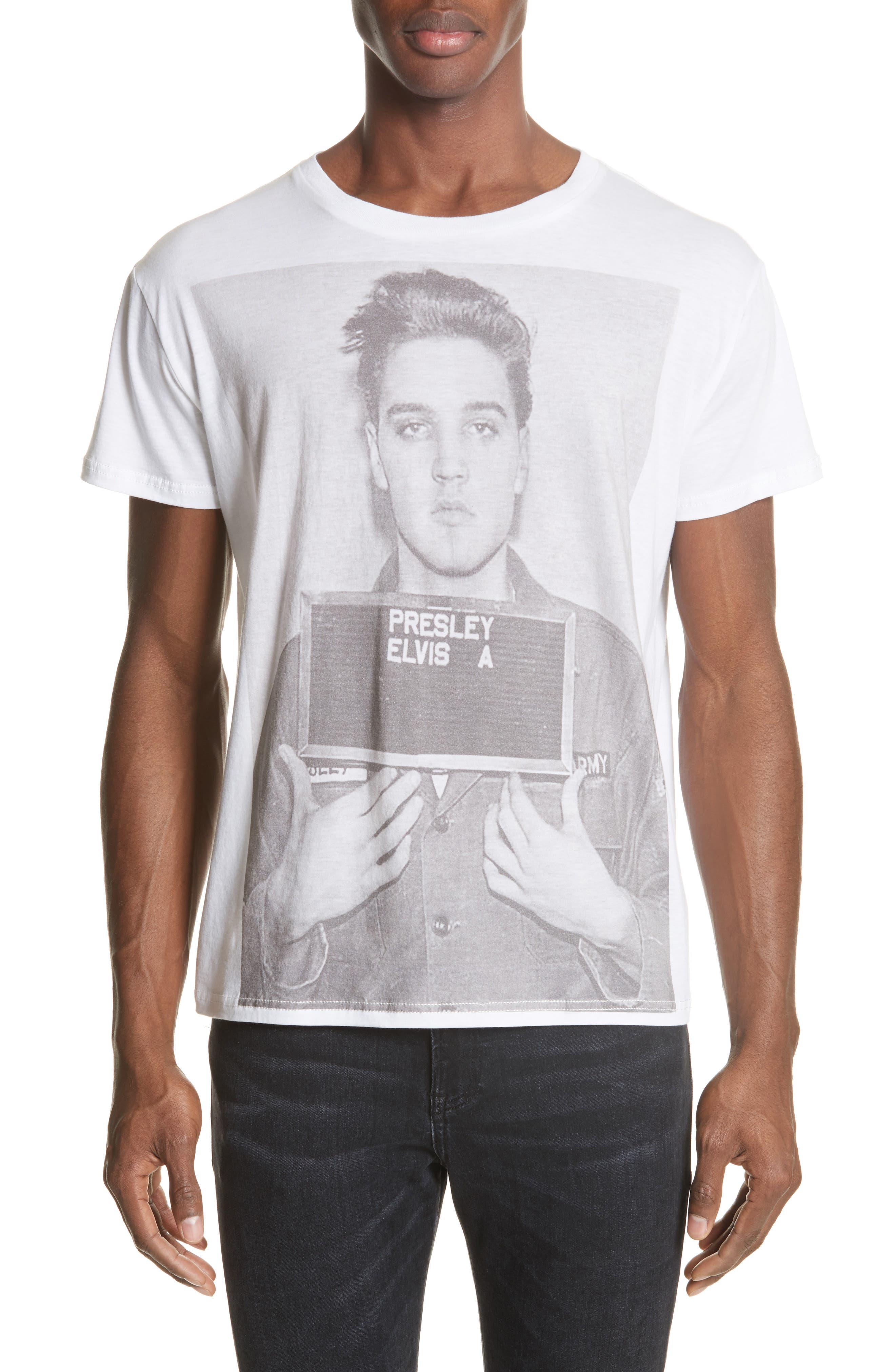 Elvis Mug Shot Graphic T-Shirt,                             Main thumbnail 1, color,