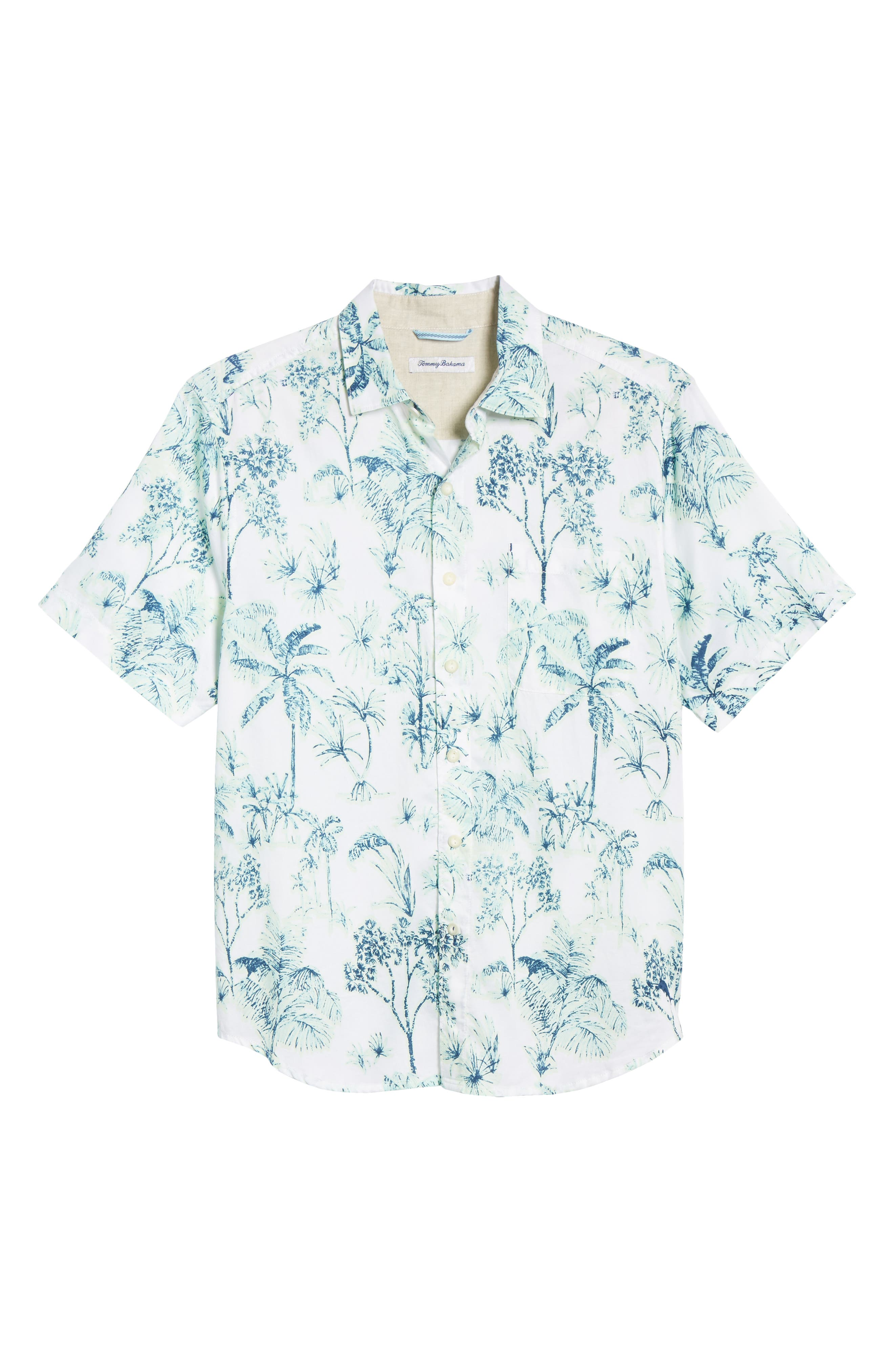 Tropic Mist Woven Shirt,                             Alternate thumbnail 5, color,                             GLOWING GREEN