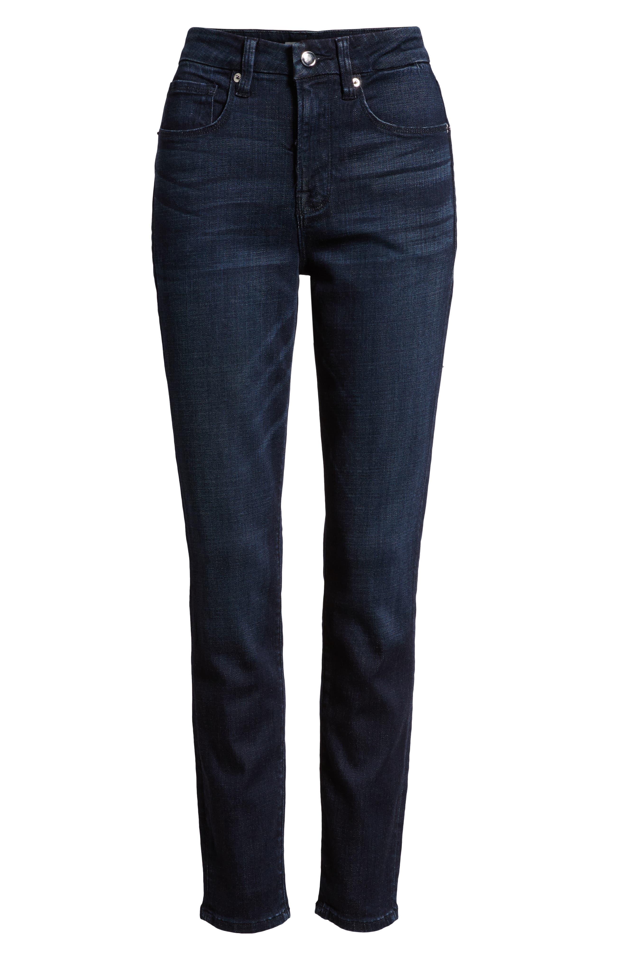GOOD AMERICAN,                             Good Legs High Waist Skinny Jeans,                             Alternate thumbnail 4, color,                             401