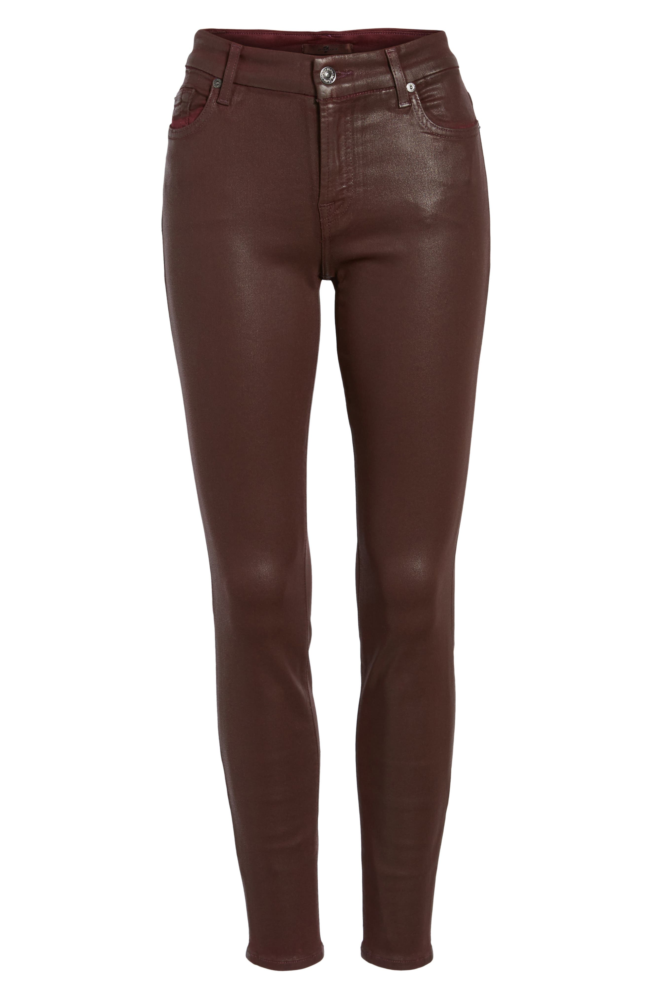 Coated Ankle Skinny Jeans,                             Alternate thumbnail 21, color,