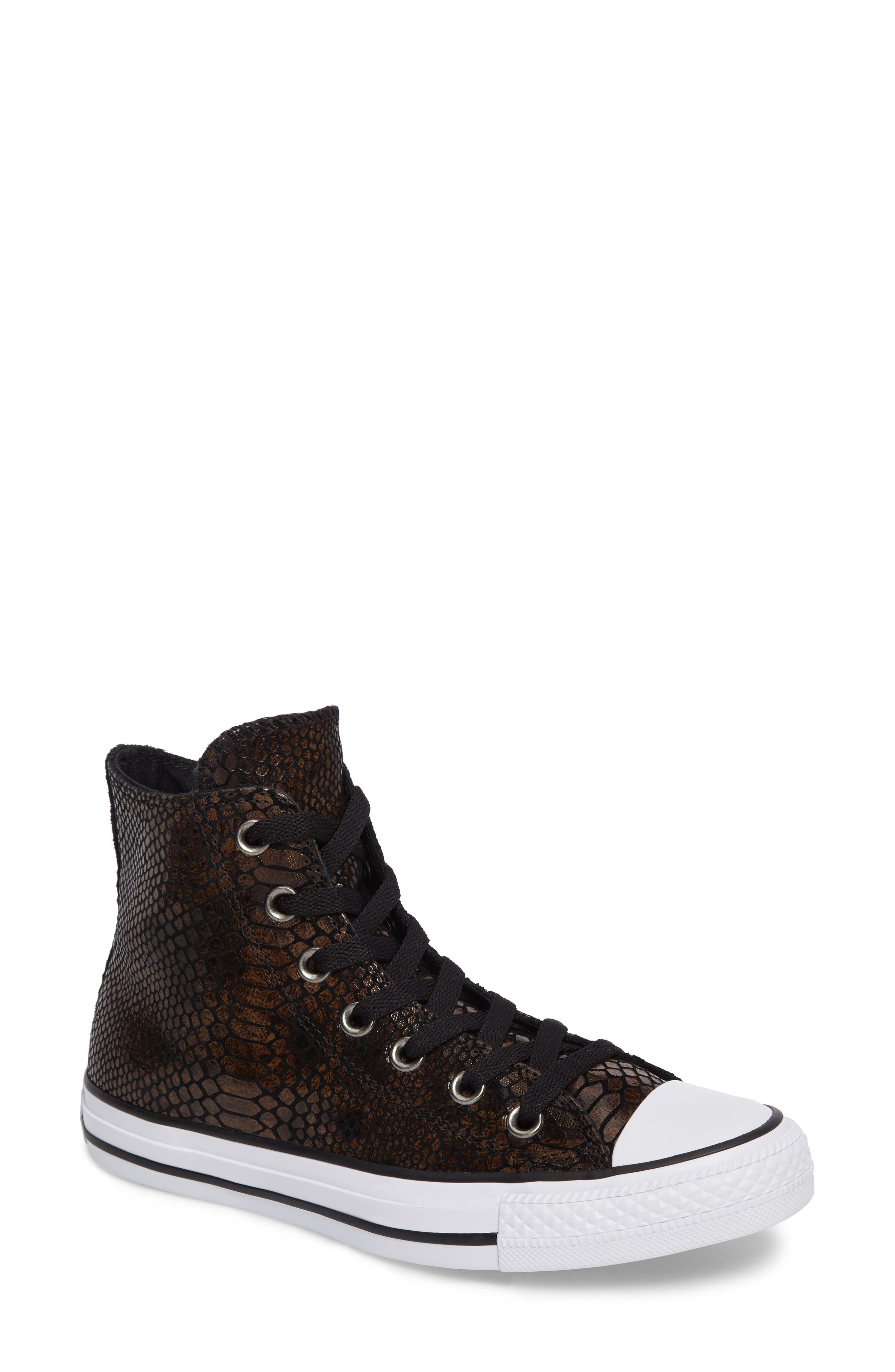 Chuck Taylor<sup>®</sup> All Star<sup>®</sup> Snake Embossed High Top Sneaker,                             Main thumbnail 1, color,                             200