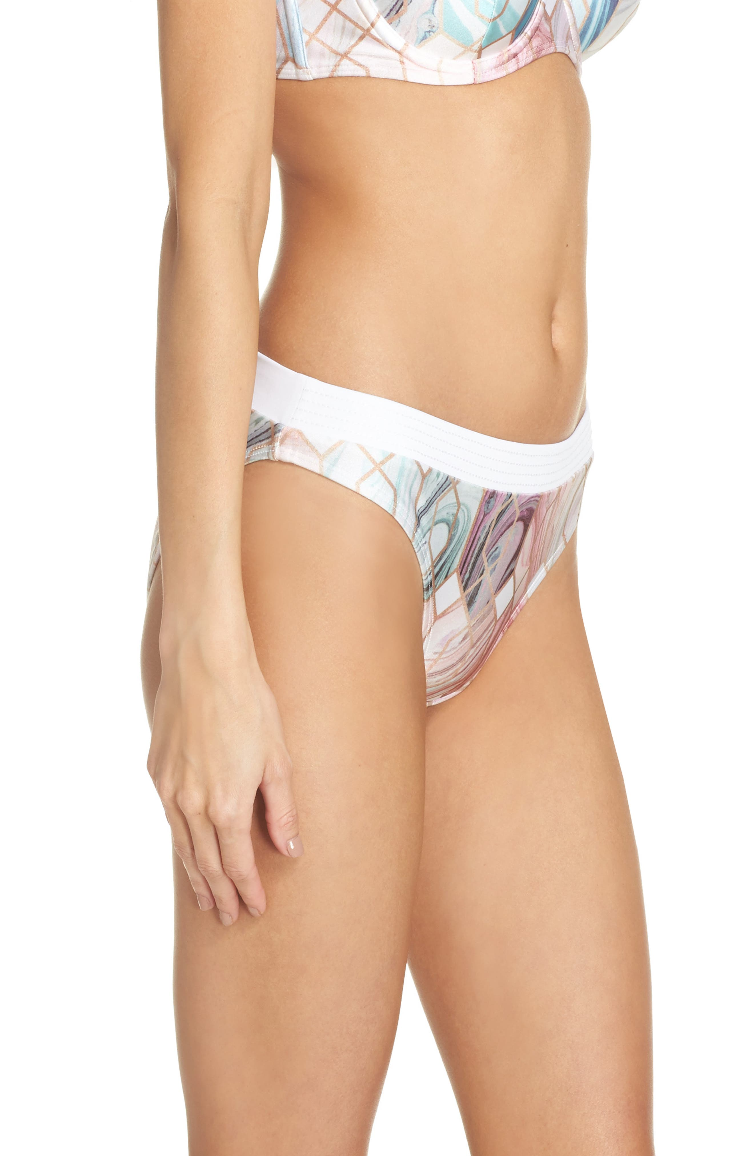 Sea of Clouds Hipster Bikini Bottoms,                             Alternate thumbnail 3, color,                             110
