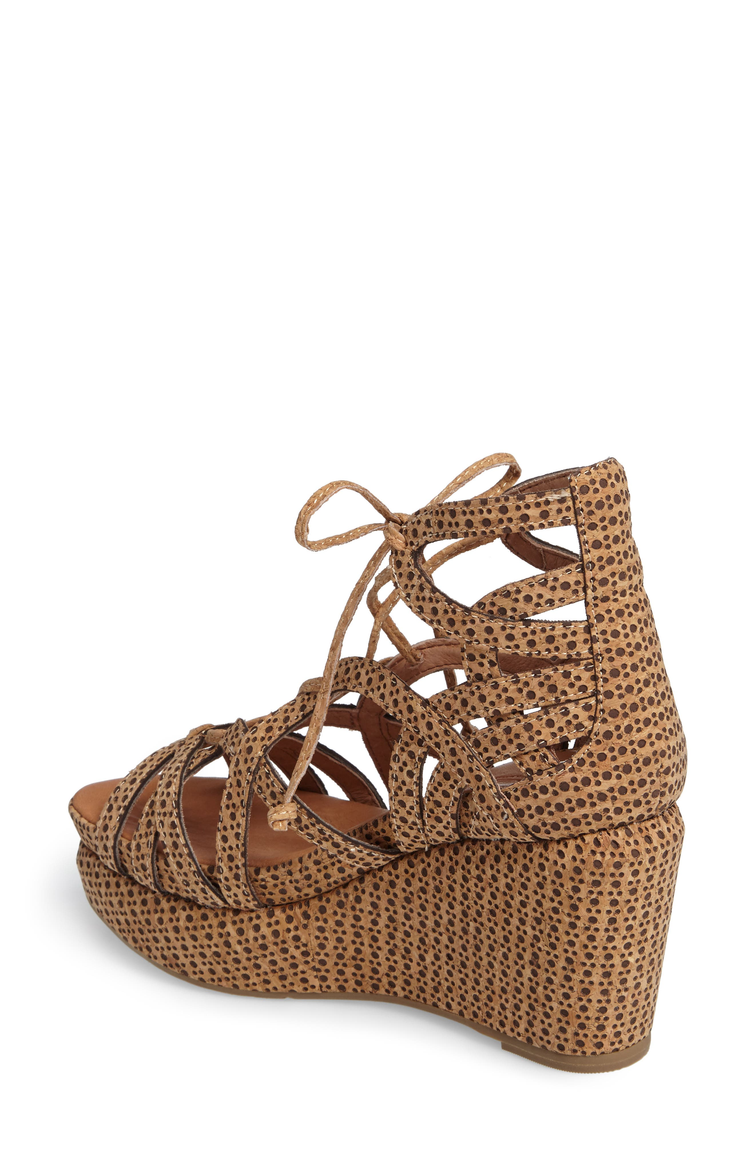 by Kenneth Cole 'Joy' Lace Up Nubuck Sandal,                             Alternate thumbnail 2, color,                             NATURAL COMBO