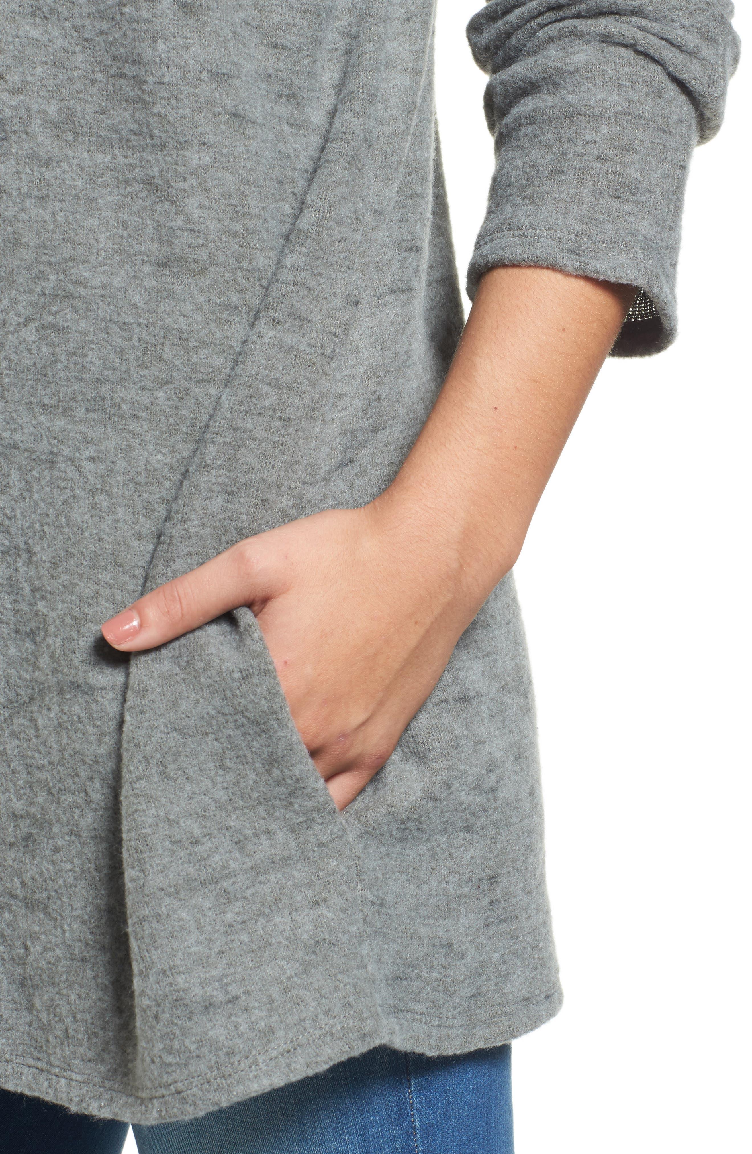 Caslon Open Knit Cardigan,                             Alternate thumbnail 18, color,