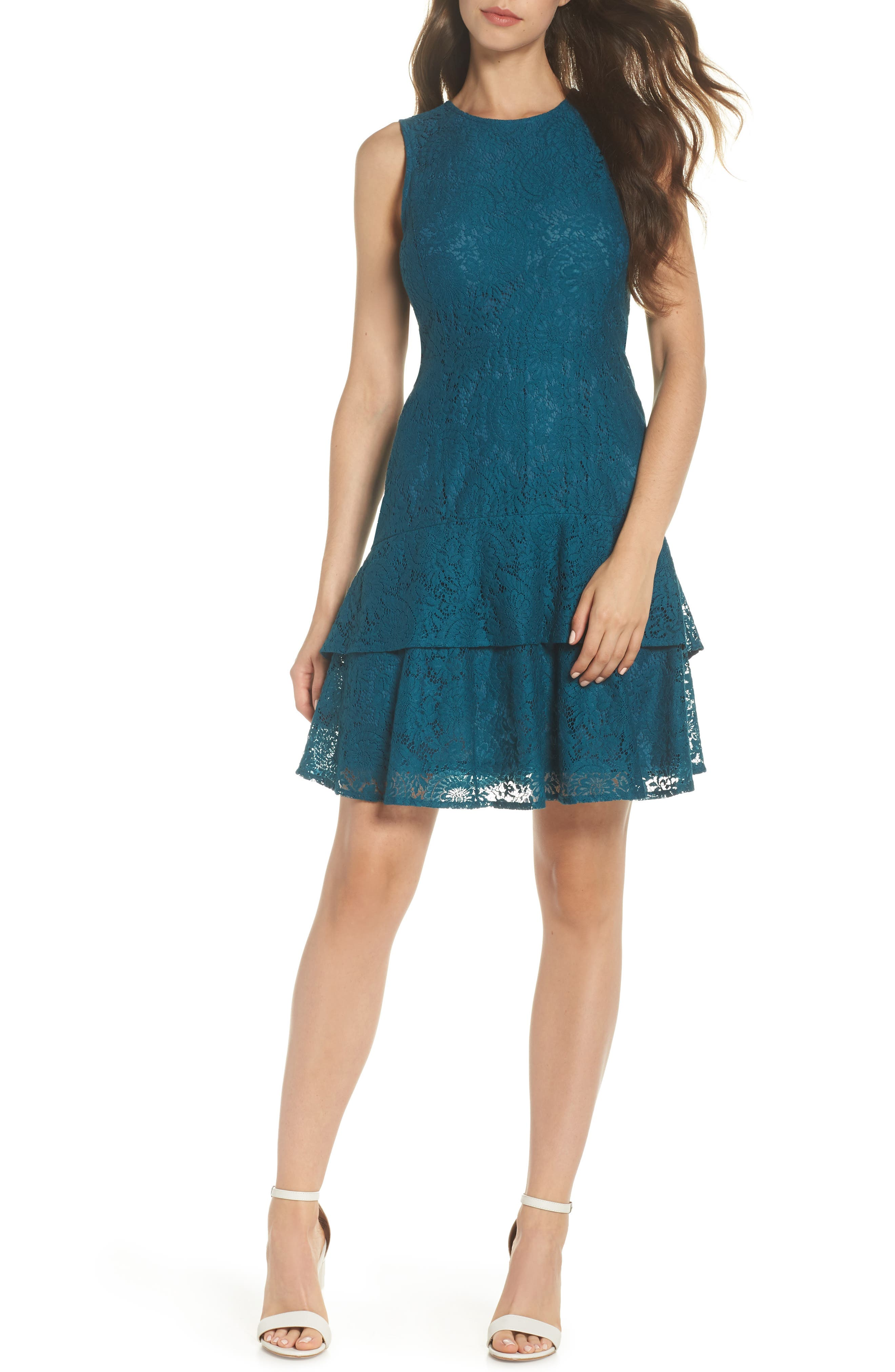 Lace Flounce Hem Dress by Michael Michael Kors
