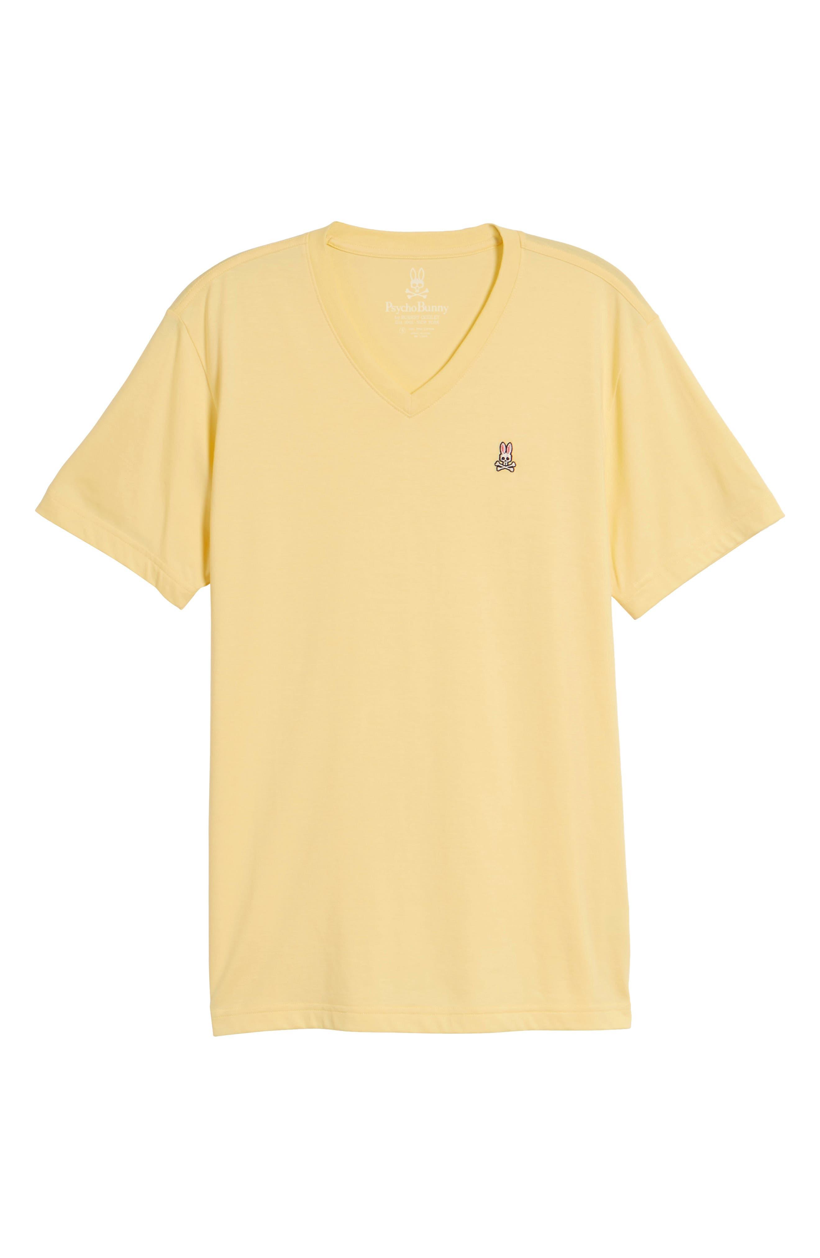 V-Neck T-Shirt,                             Alternate thumbnail 6, color,                             BANANA