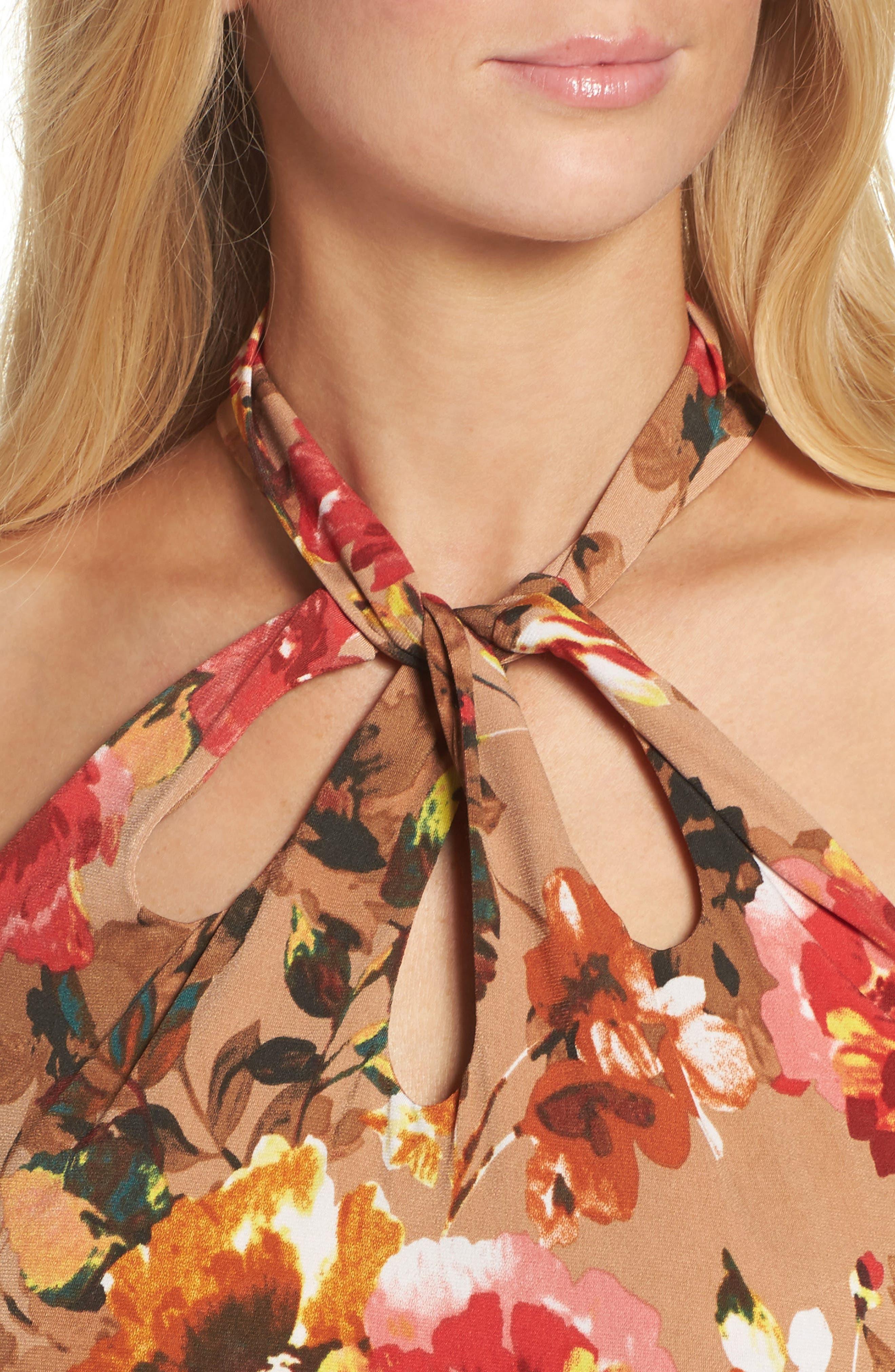 Jersey Midi Dress,                             Alternate thumbnail 4, color,