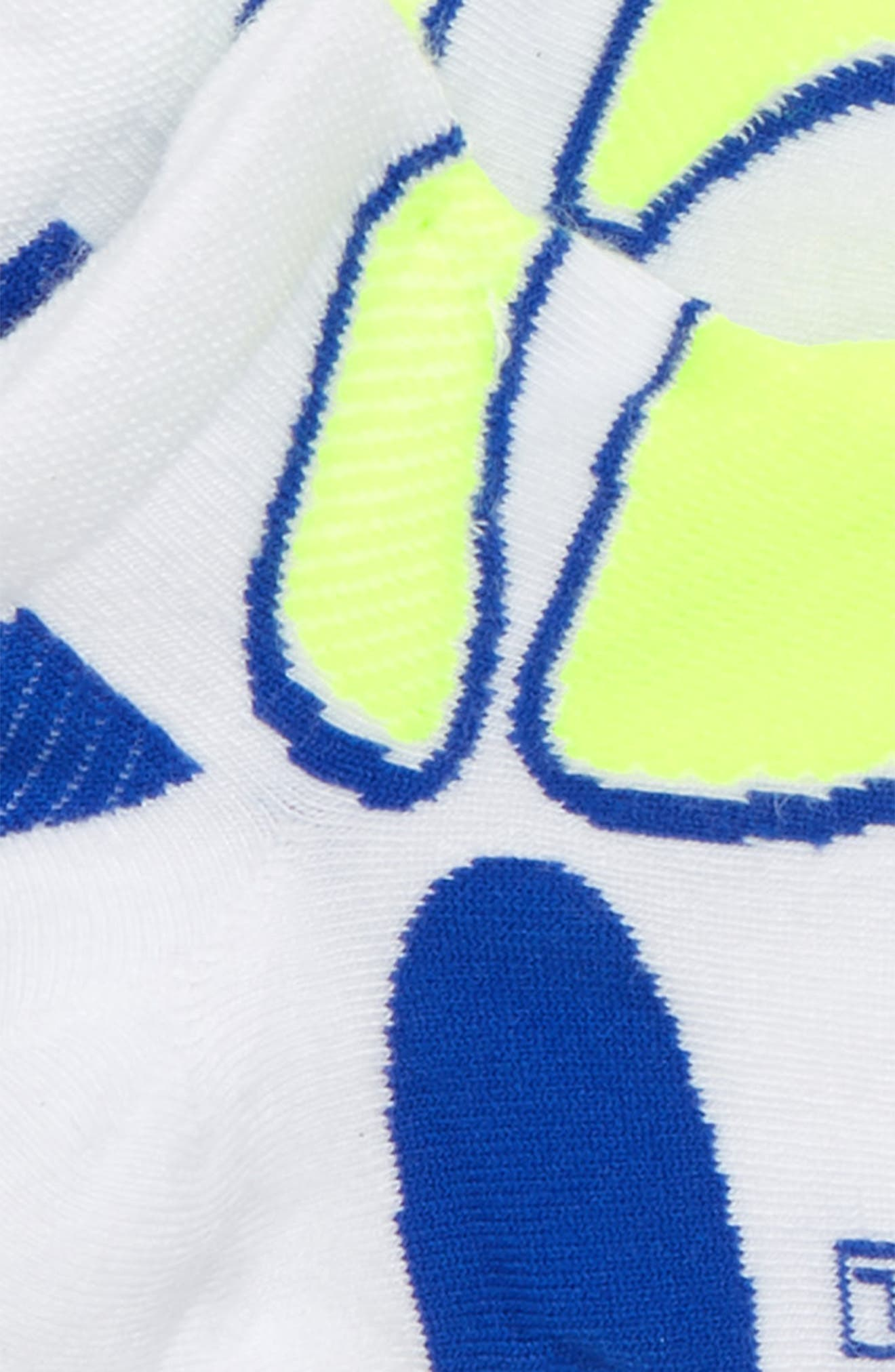 Ultra Light Socks,                             Alternate thumbnail 2, color,                             WHITE/ NEON YELLOW/ ROYAL