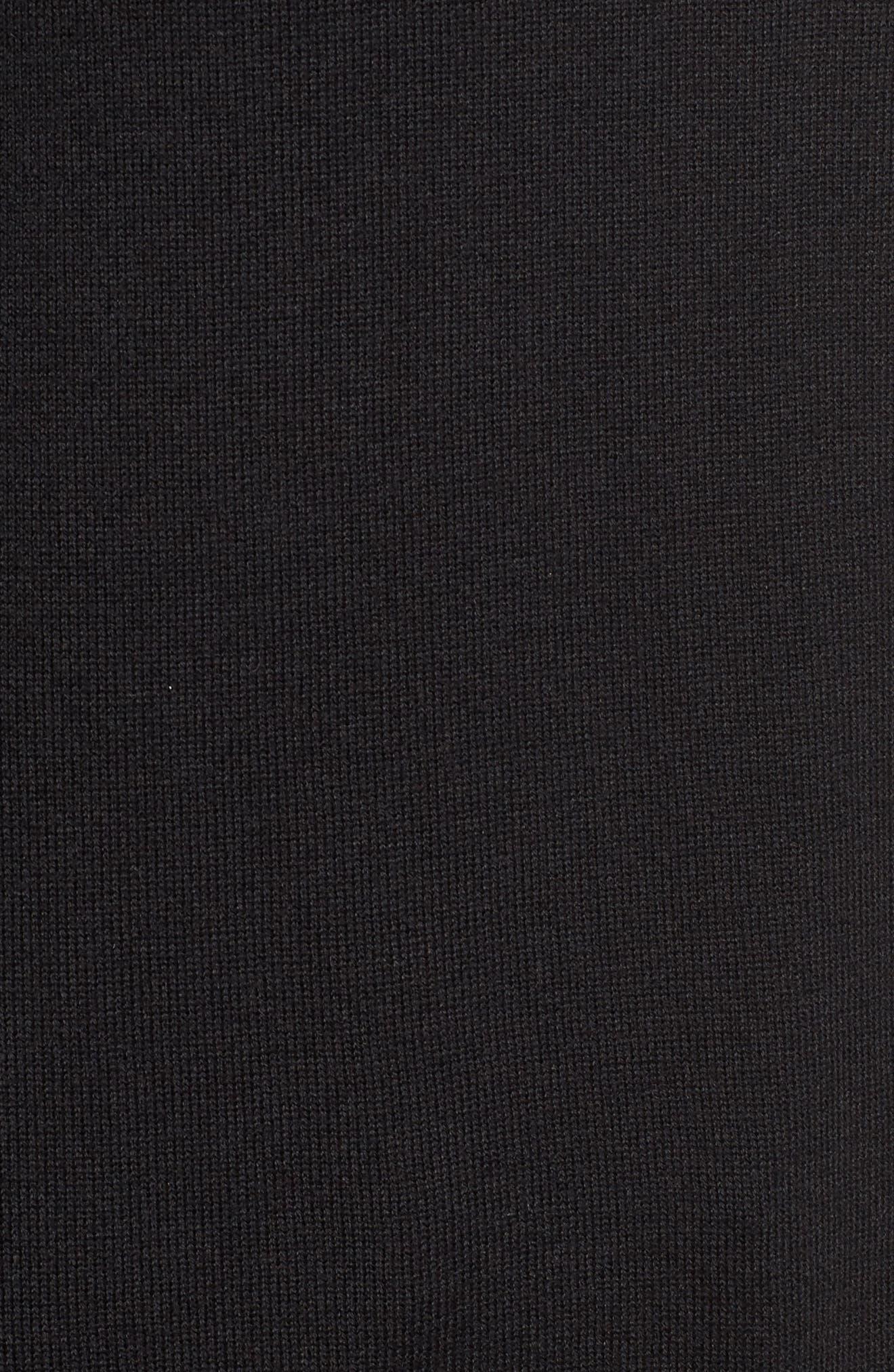 Lace Detail Cold Shoulder Sweater,                             Alternate thumbnail 5, color,                             001