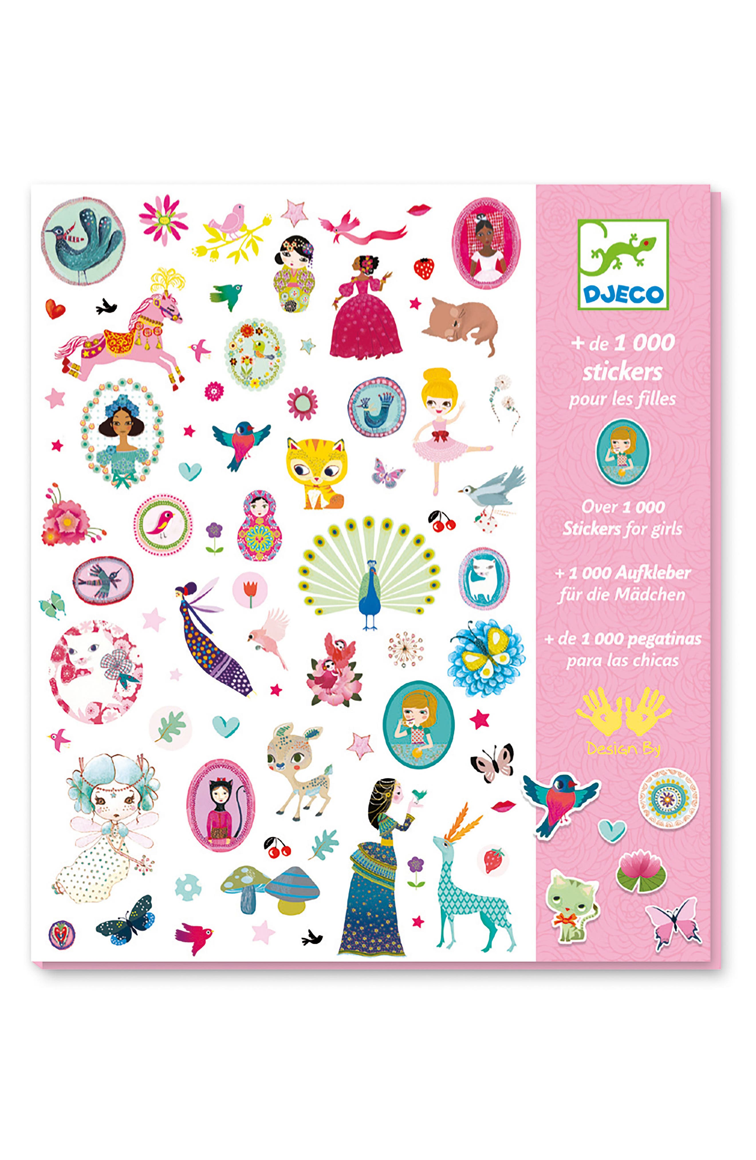 Over 1,000 Stickers for Girls Sticker Collection,                             Alternate thumbnail 3, color,                             100