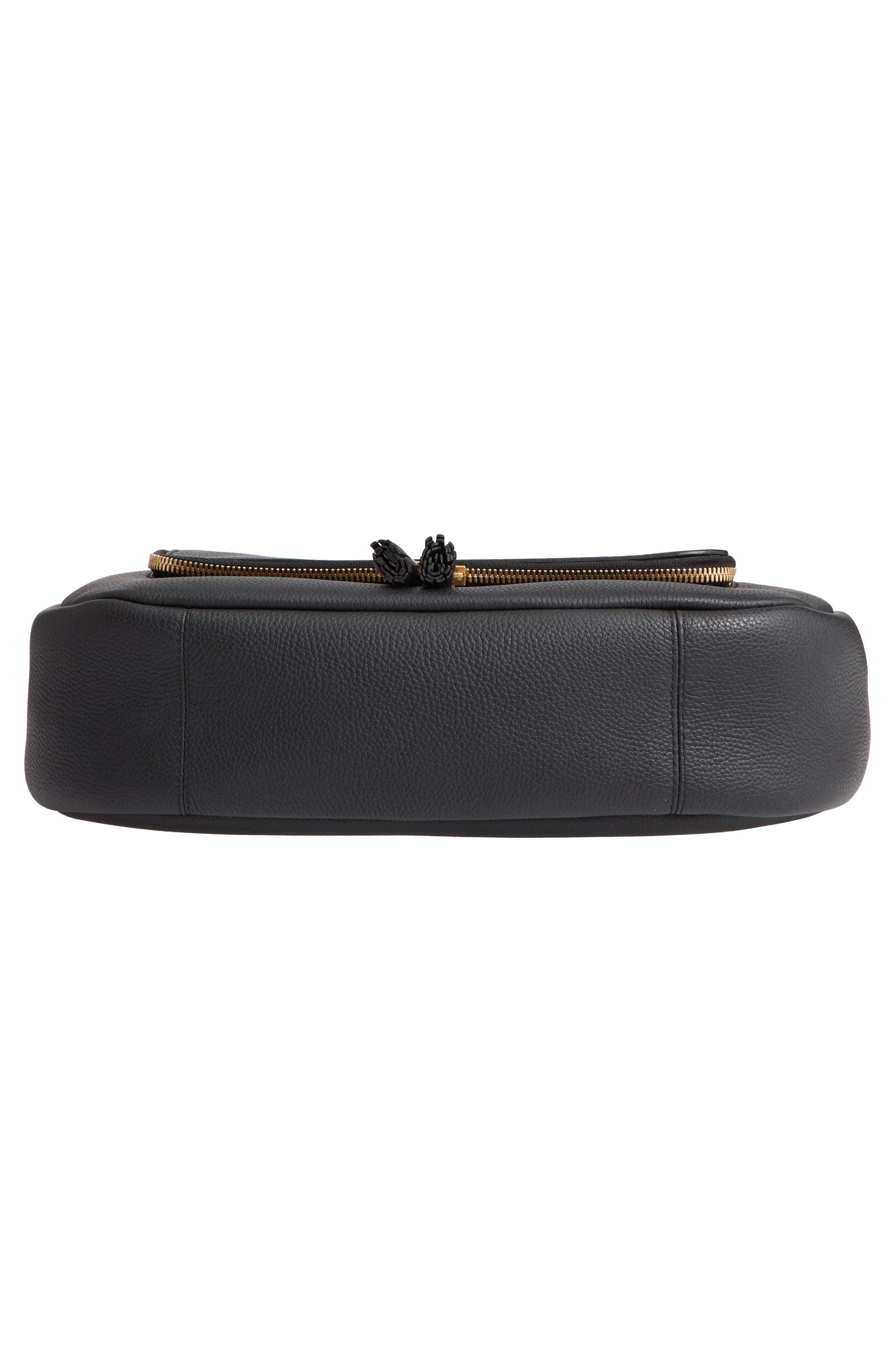 Maxi Vere Soft Satchel Shoulder Bag,                             Alternate thumbnail 7, color,                             BLACK