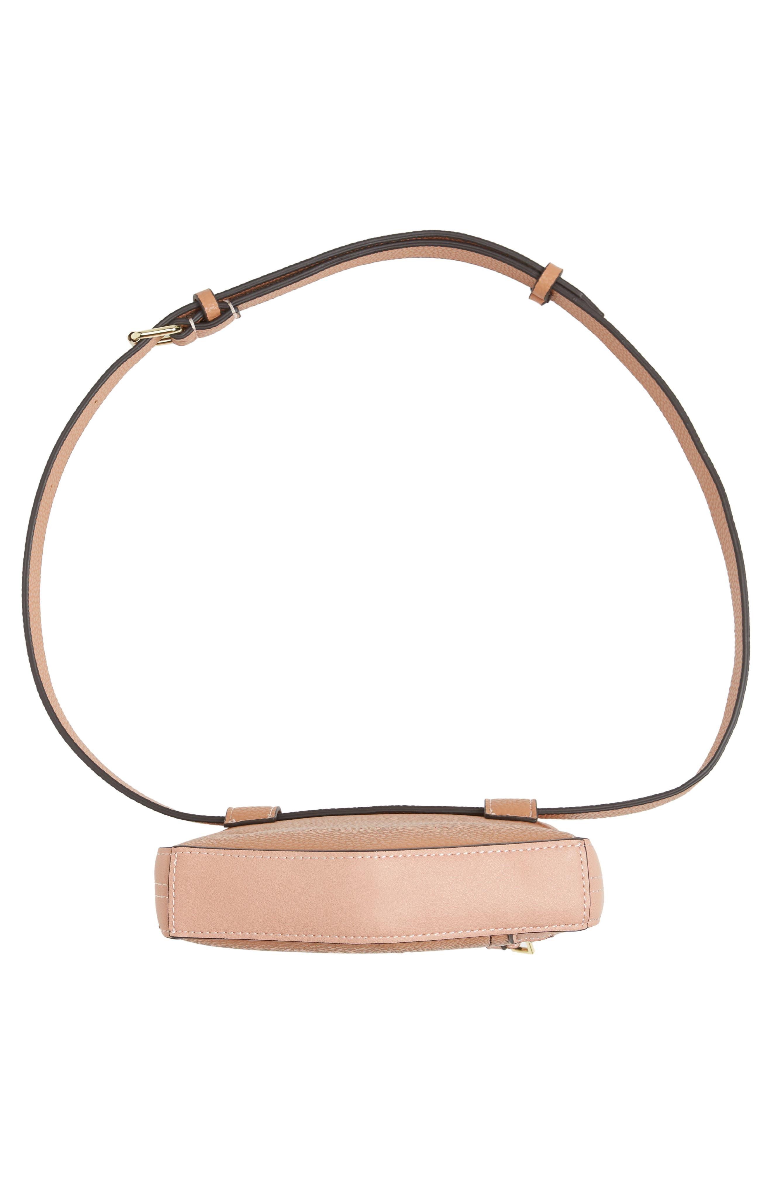 Elia Faux Leather Belt Bag,                             Alternate thumbnail 7, color,                             TAN COMBO