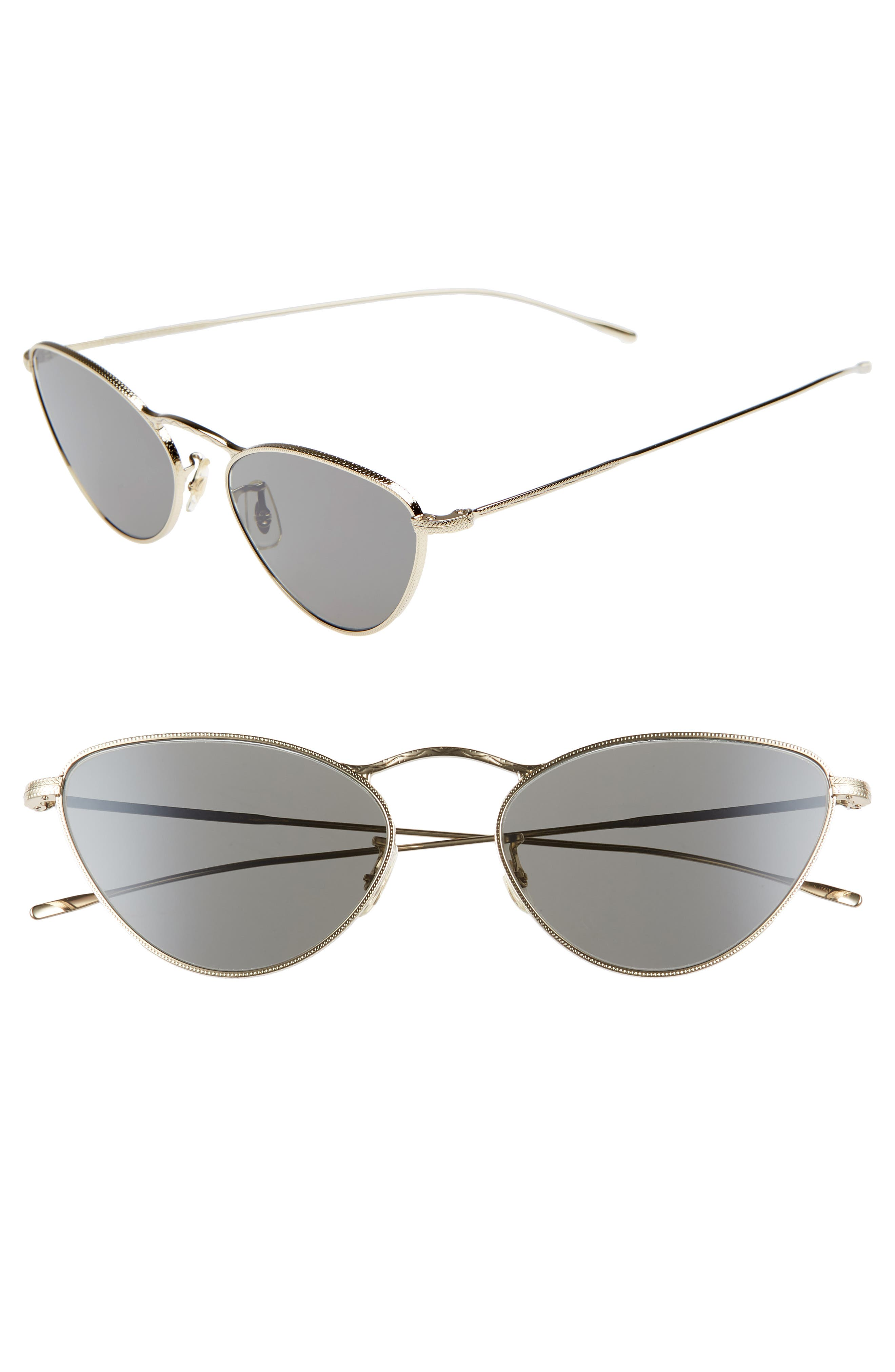 Oliver Peoples Lelaina 5m Cat Eye Sunglasses - Carbon Gray/ Gold