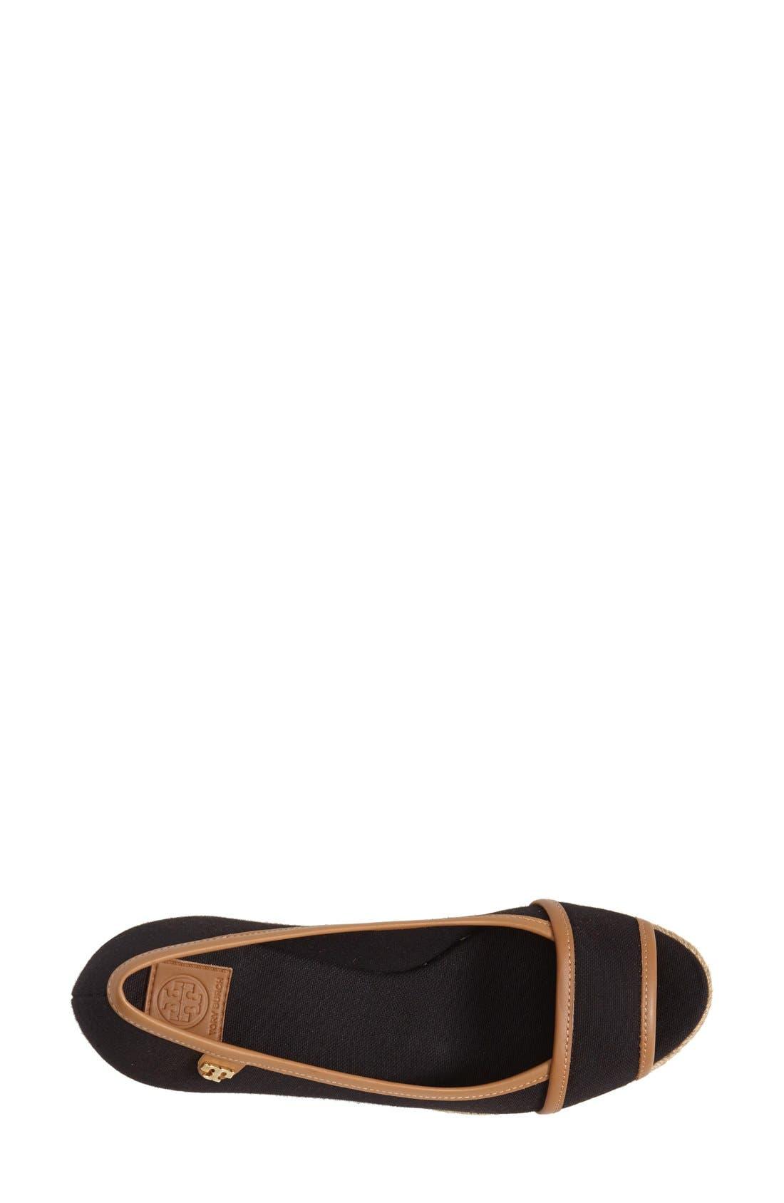 TORY BURCH,                             'Majorca' Wedge Sandal,                             Alternate thumbnail 4, color,                             013