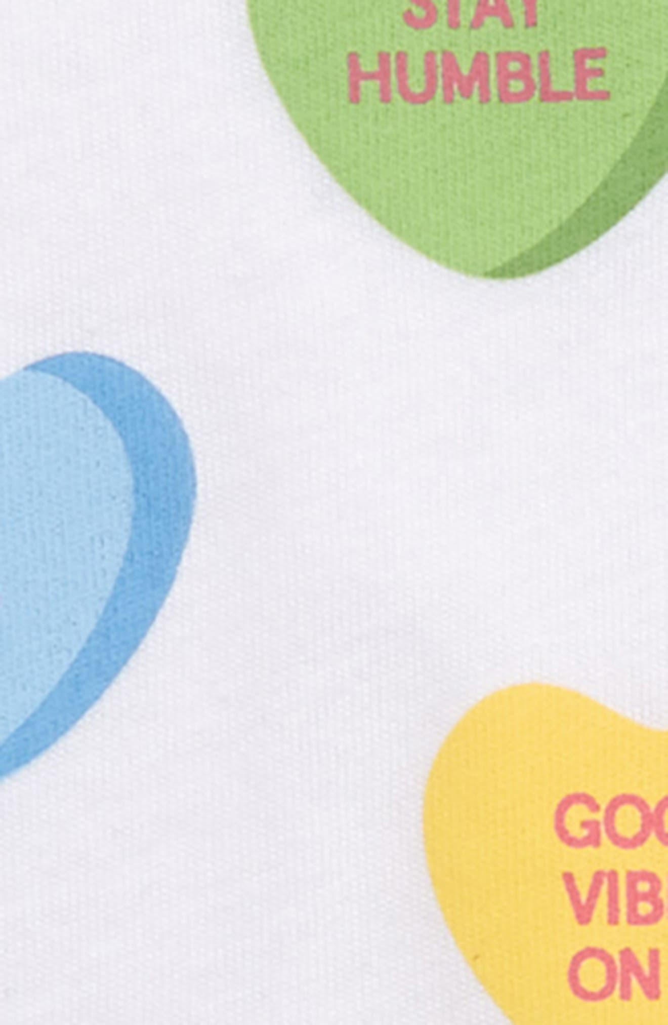 Candy Hearts Tee,                             Alternate thumbnail 2, color,                             WHITE