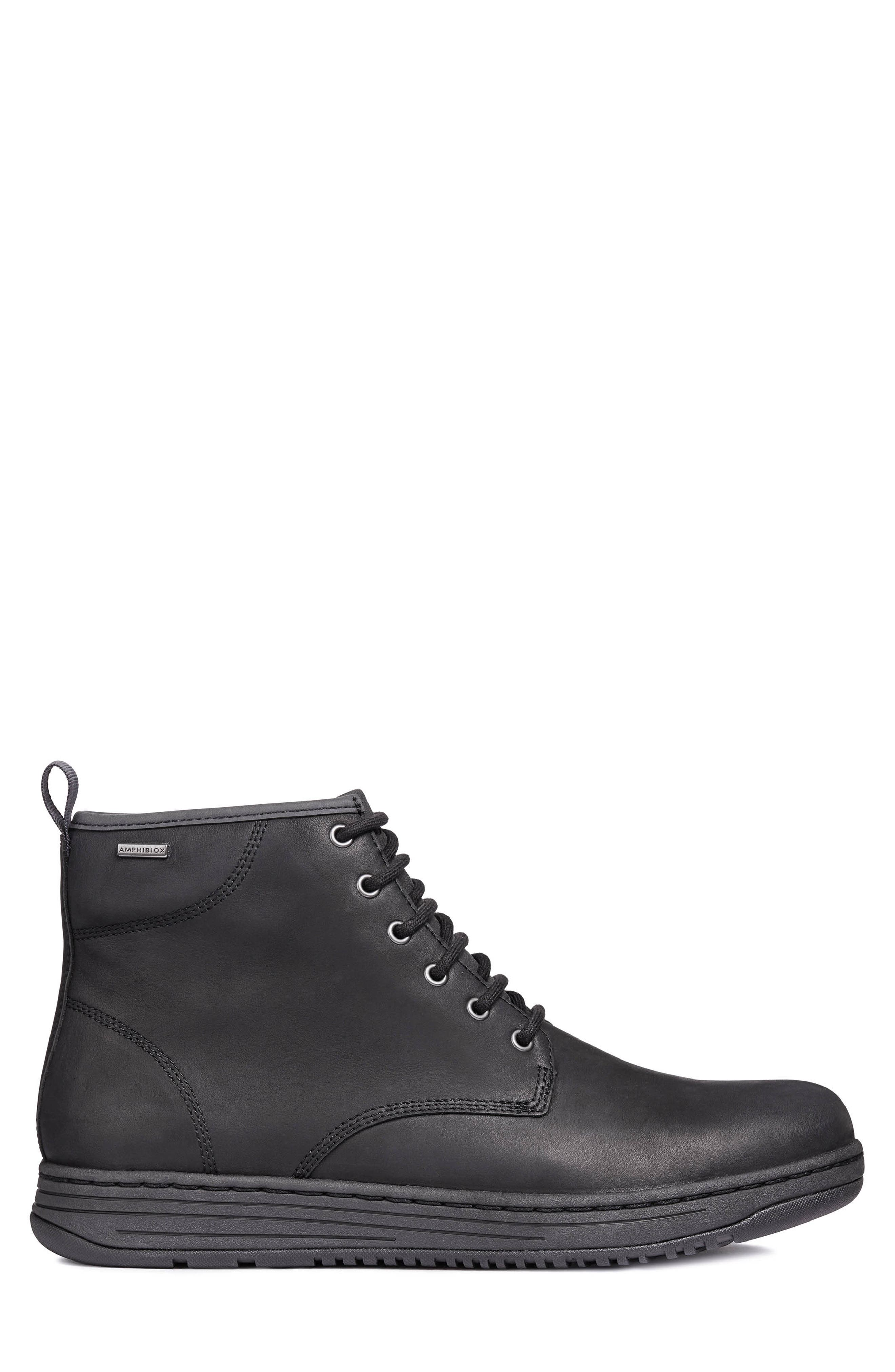 Abroad ABX 2 Tall Lace-Up Boot,                             Alternate thumbnail 3, color,                             BLACK