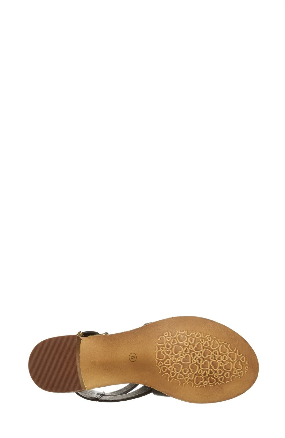 'Rosana' Double Ankle Strap Leather Sandal,                             Alternate thumbnail 4, color,                             001