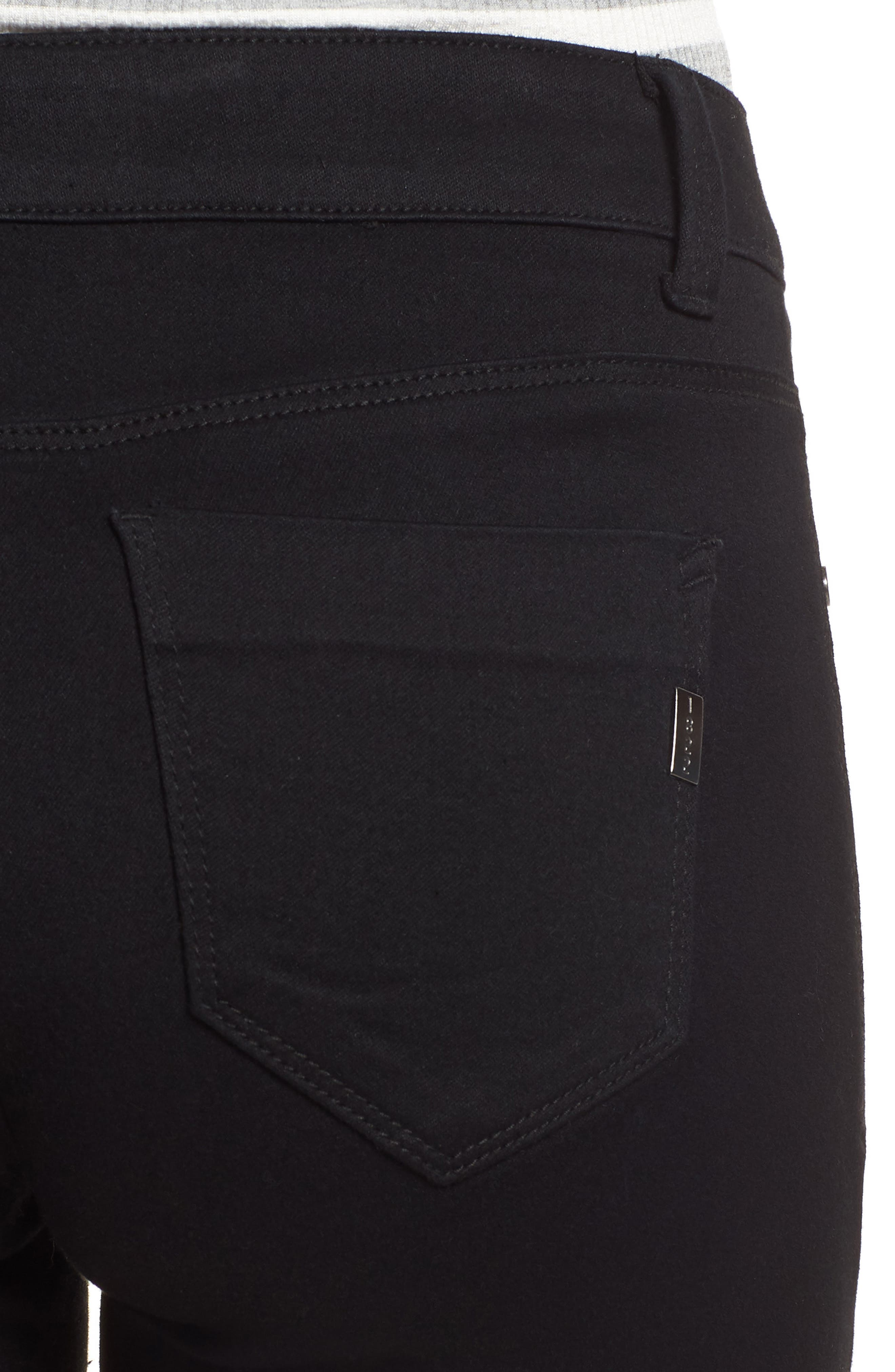 Butter Denim Shorts,                             Alternate thumbnail 4, color,                             001
