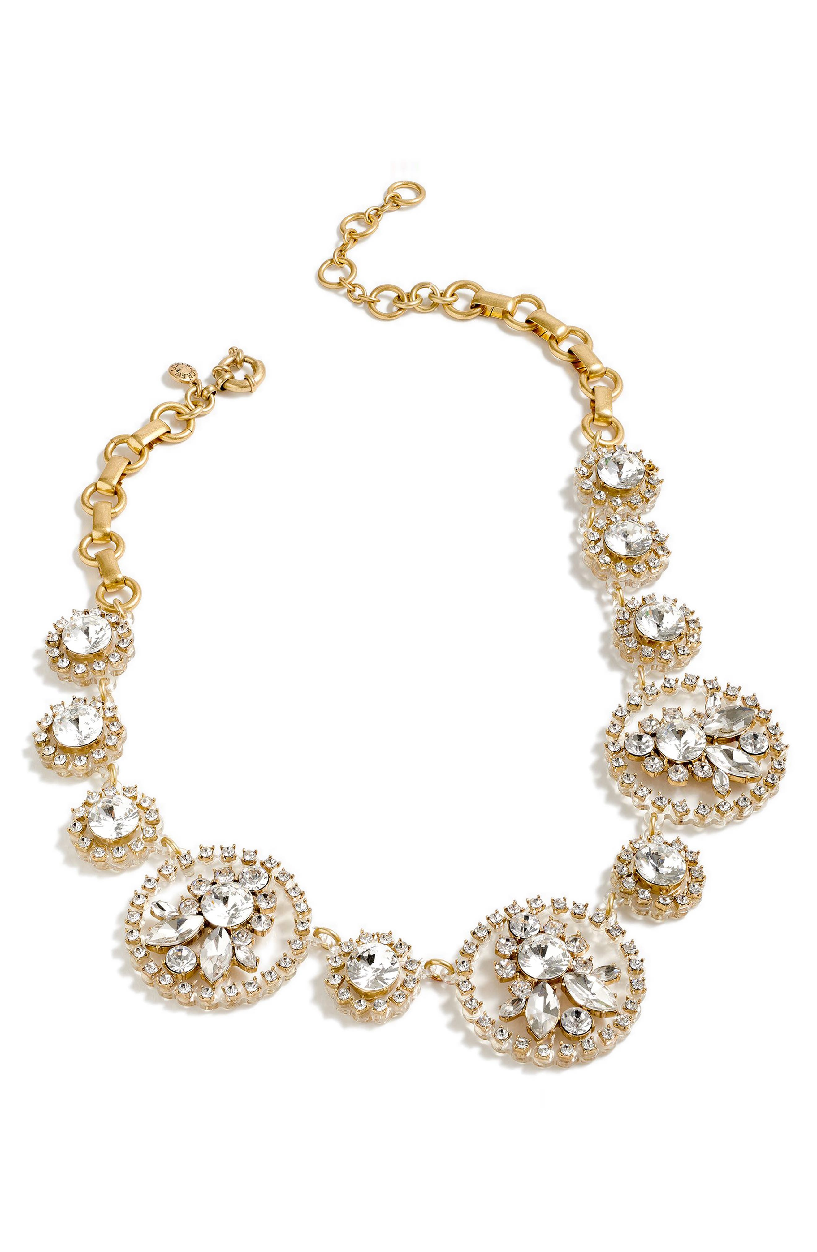 Crystal Statement Necklace,                         Main,                         color, 040