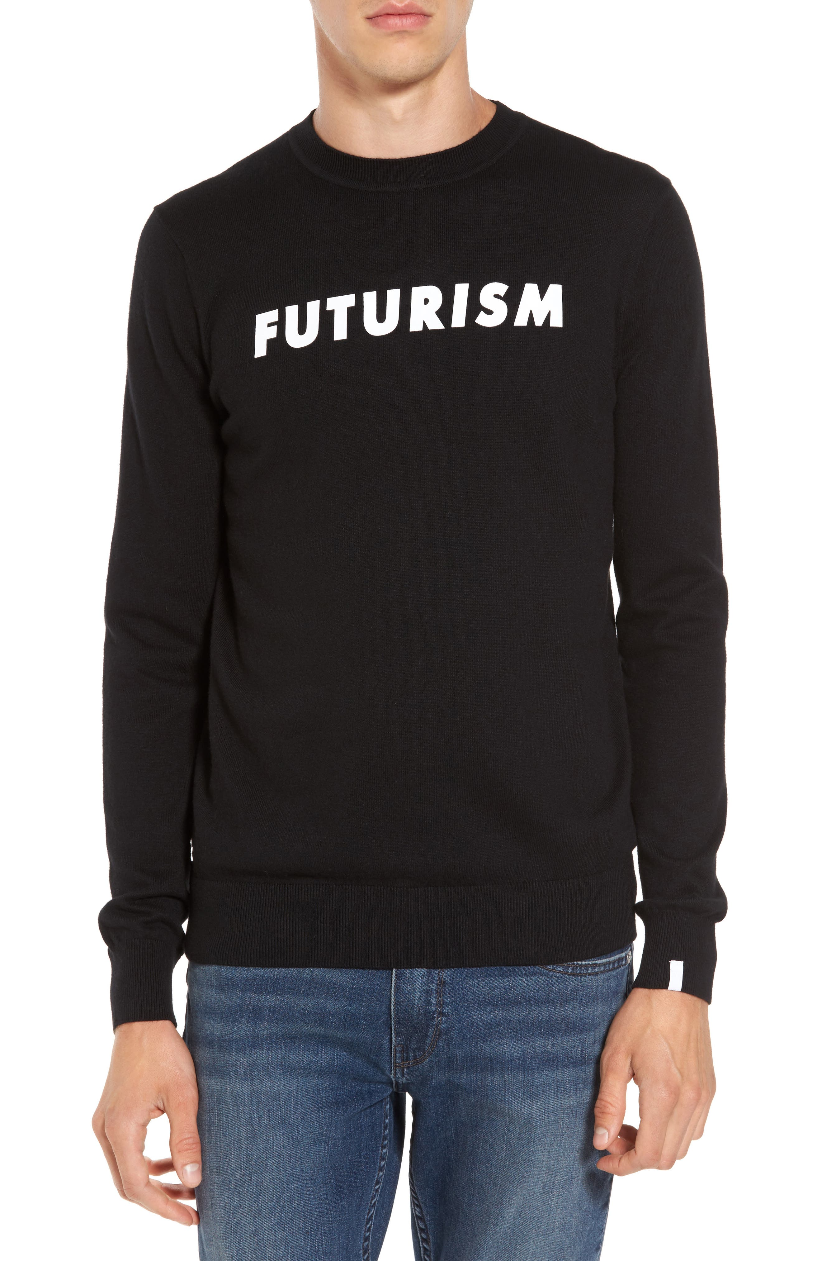 Futurism Graphic Sweater,                             Main thumbnail 1, color,                             001