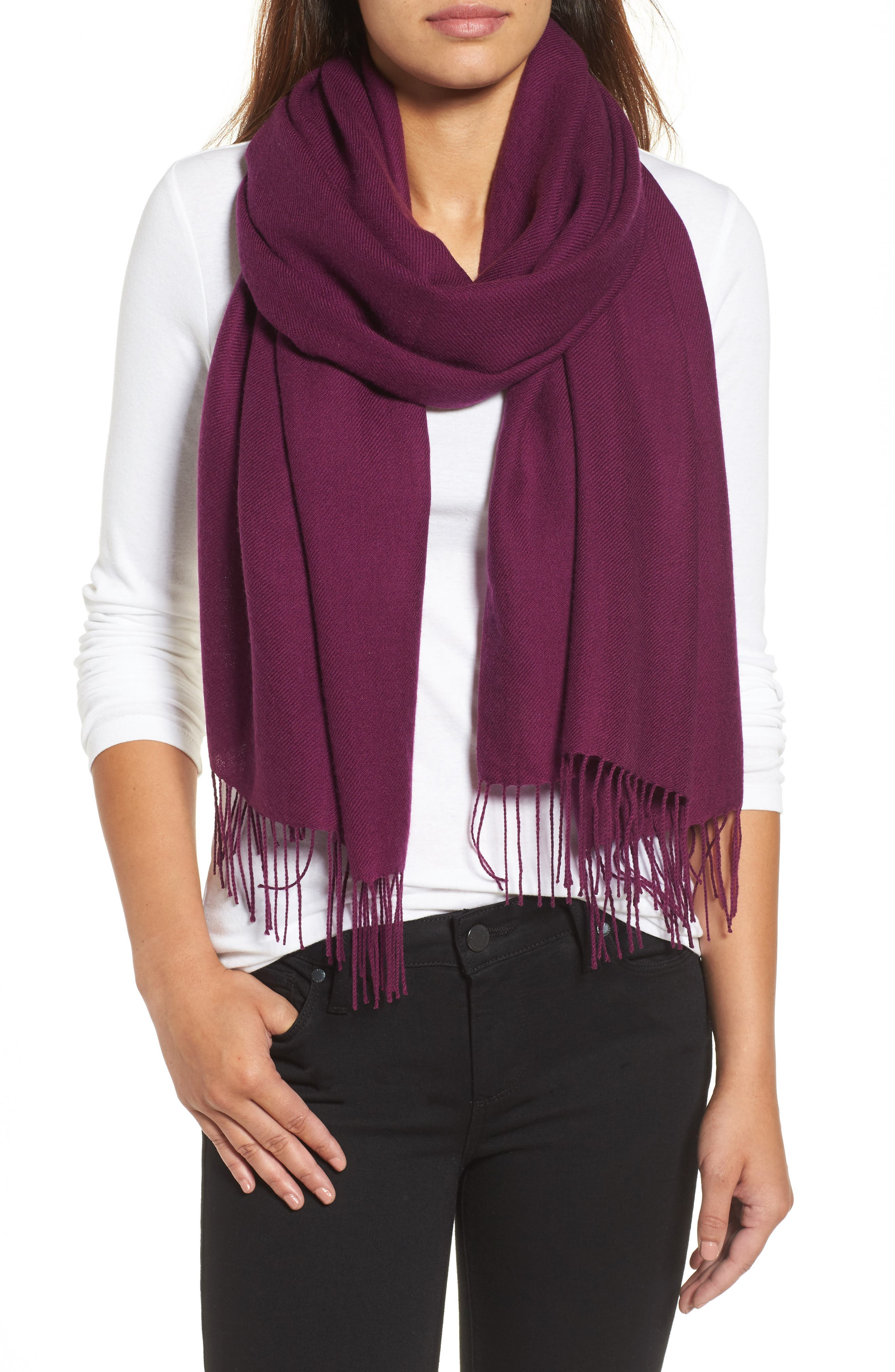 Tissue Weight Wool & Cashmere Scarf,                             Main thumbnail 45, color,