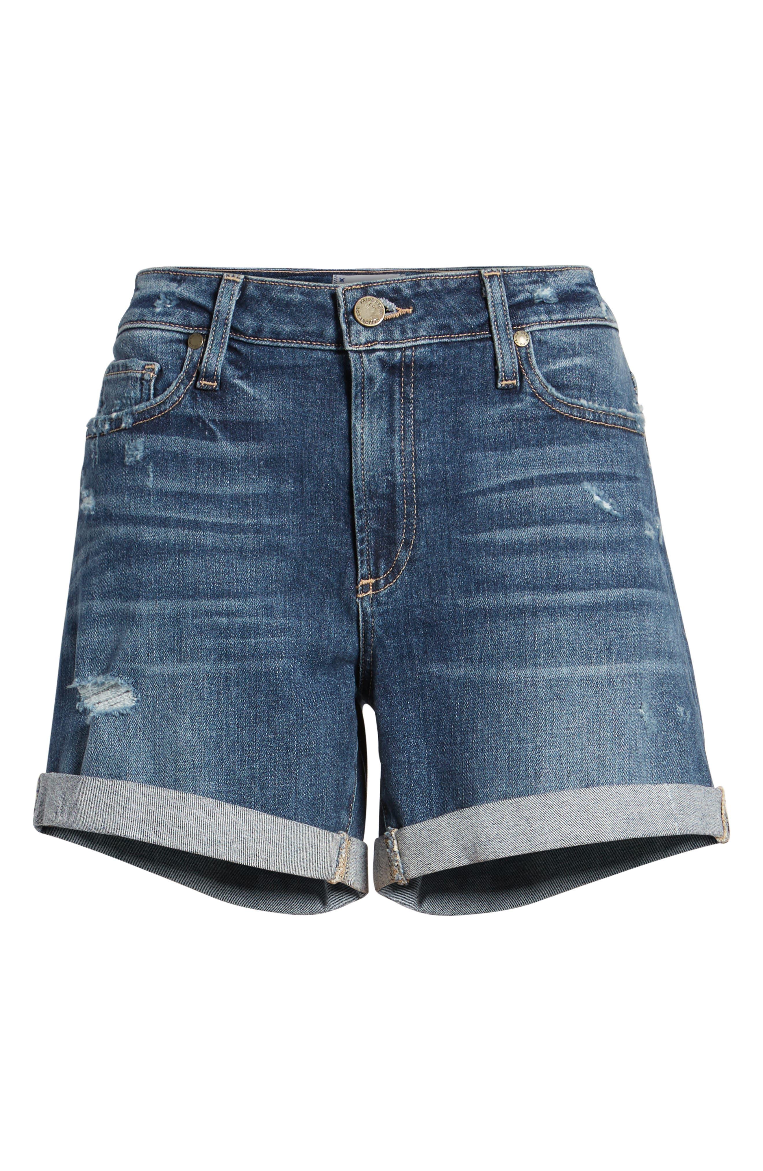 Parker Denim Boyfriend Shorts,                             Alternate thumbnail 3, color,                             400