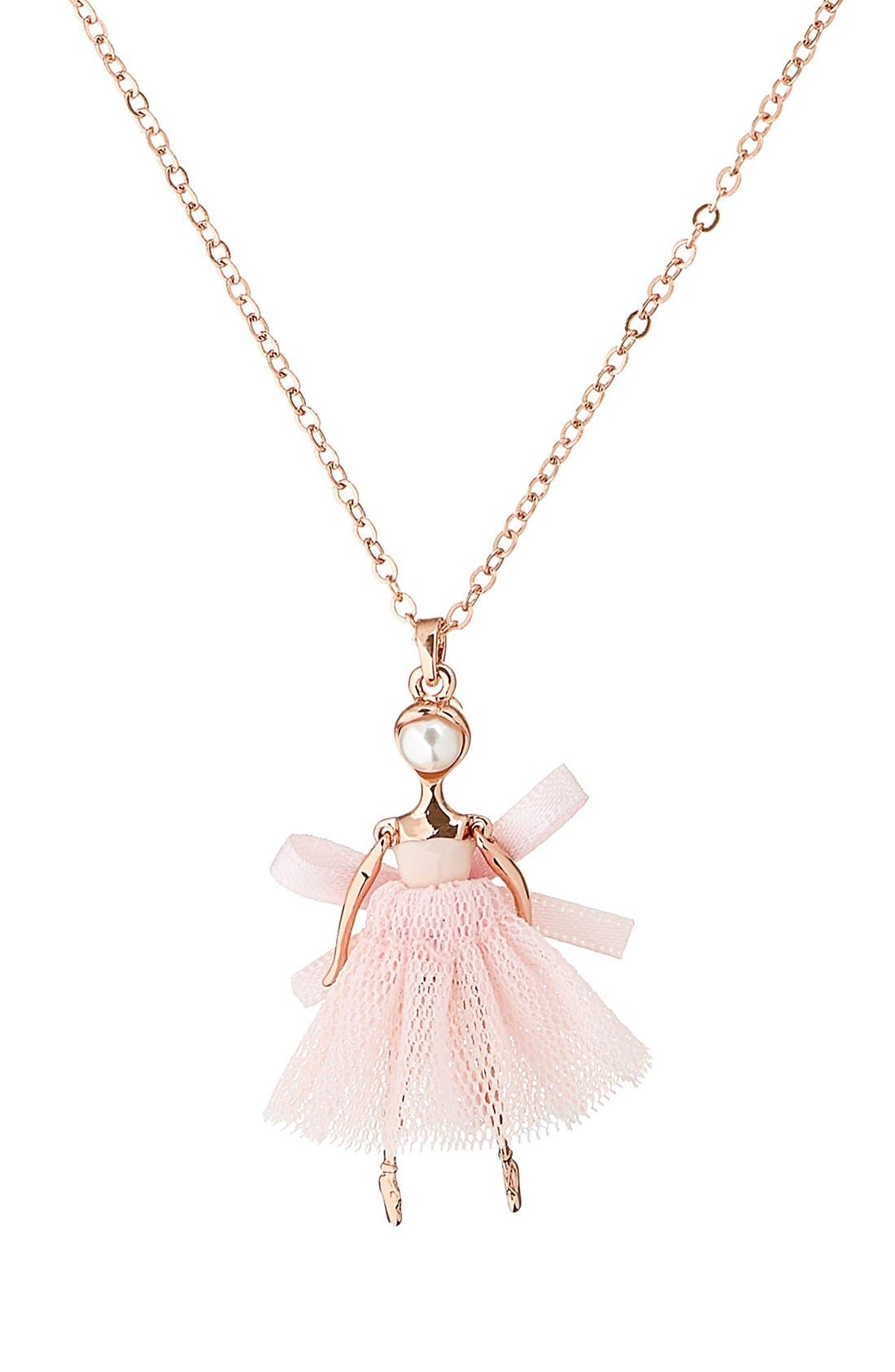 Carabel Ballerina Pendant Necklace,                             Alternate thumbnail 10, color,
