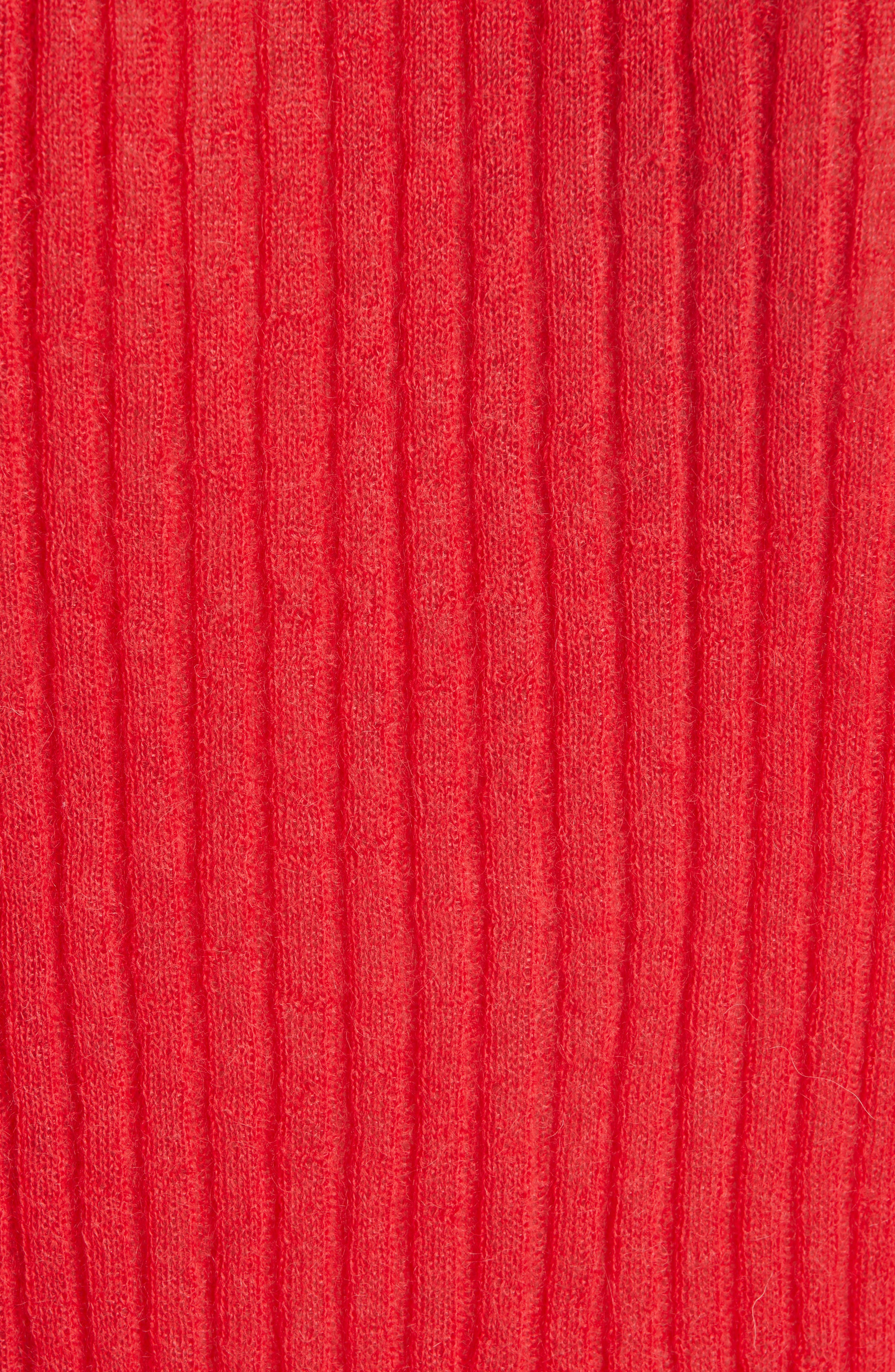 Donna Mohair & Wool Blend Sweater,                             Alternate thumbnail 5, color,                             RED