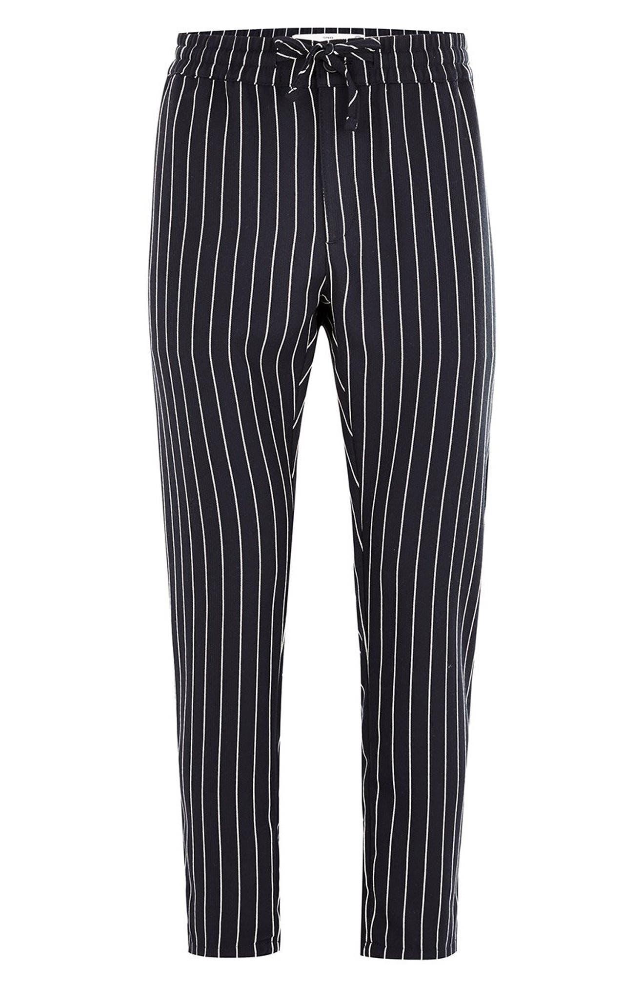 Pinstripe Woven Jogger Pants,                             Alternate thumbnail 4, color,                             400
