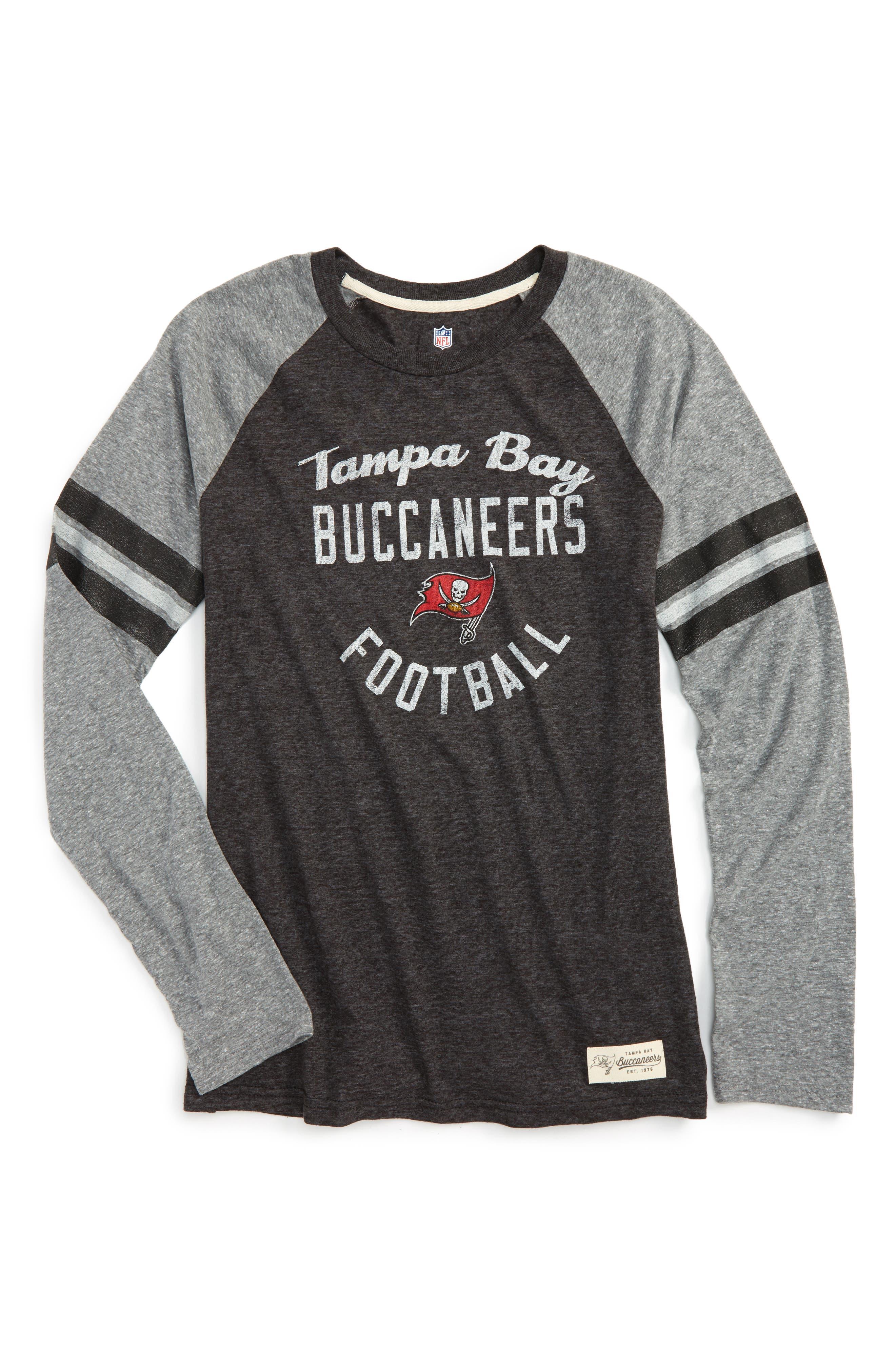 NFL Tampa Bay Buccaneers Distressed Logo T-Shirt,                             Main thumbnail 1, color,                             600