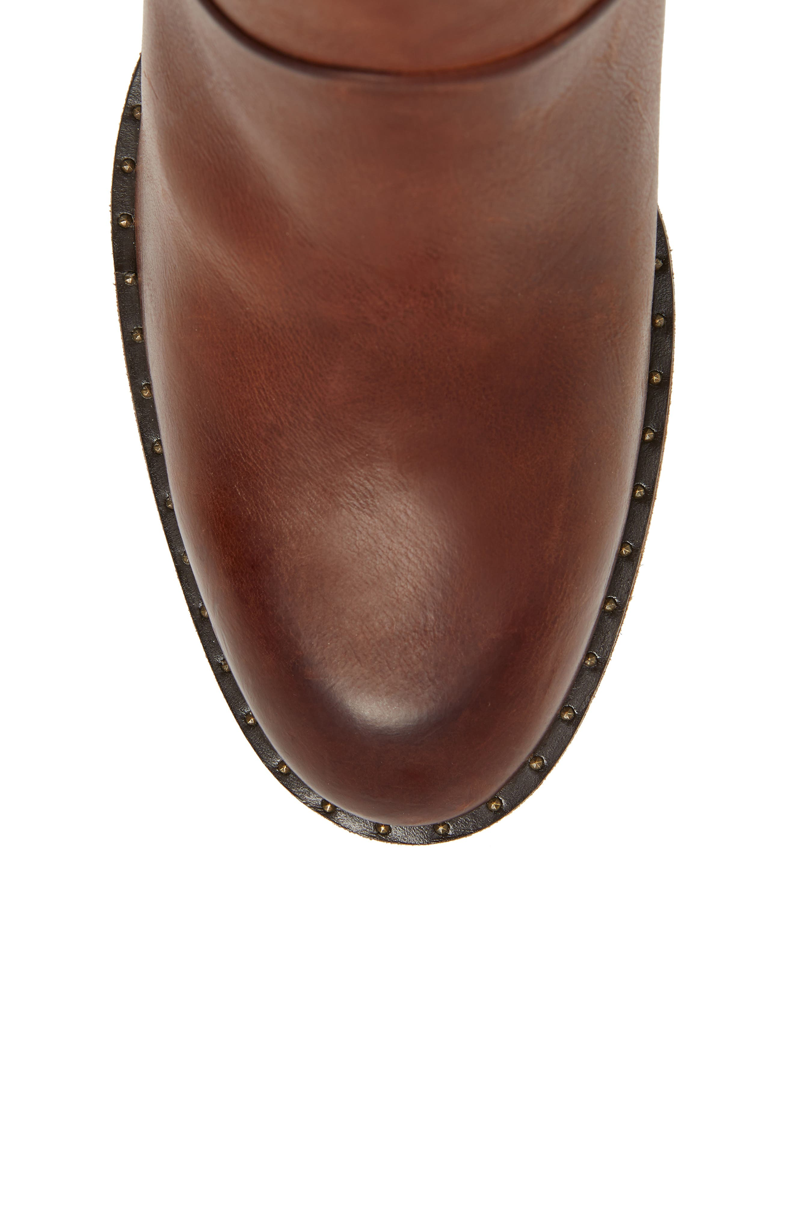 Stella Bootie,                             Alternate thumbnail 5, color,                             SADDLE LEATHER