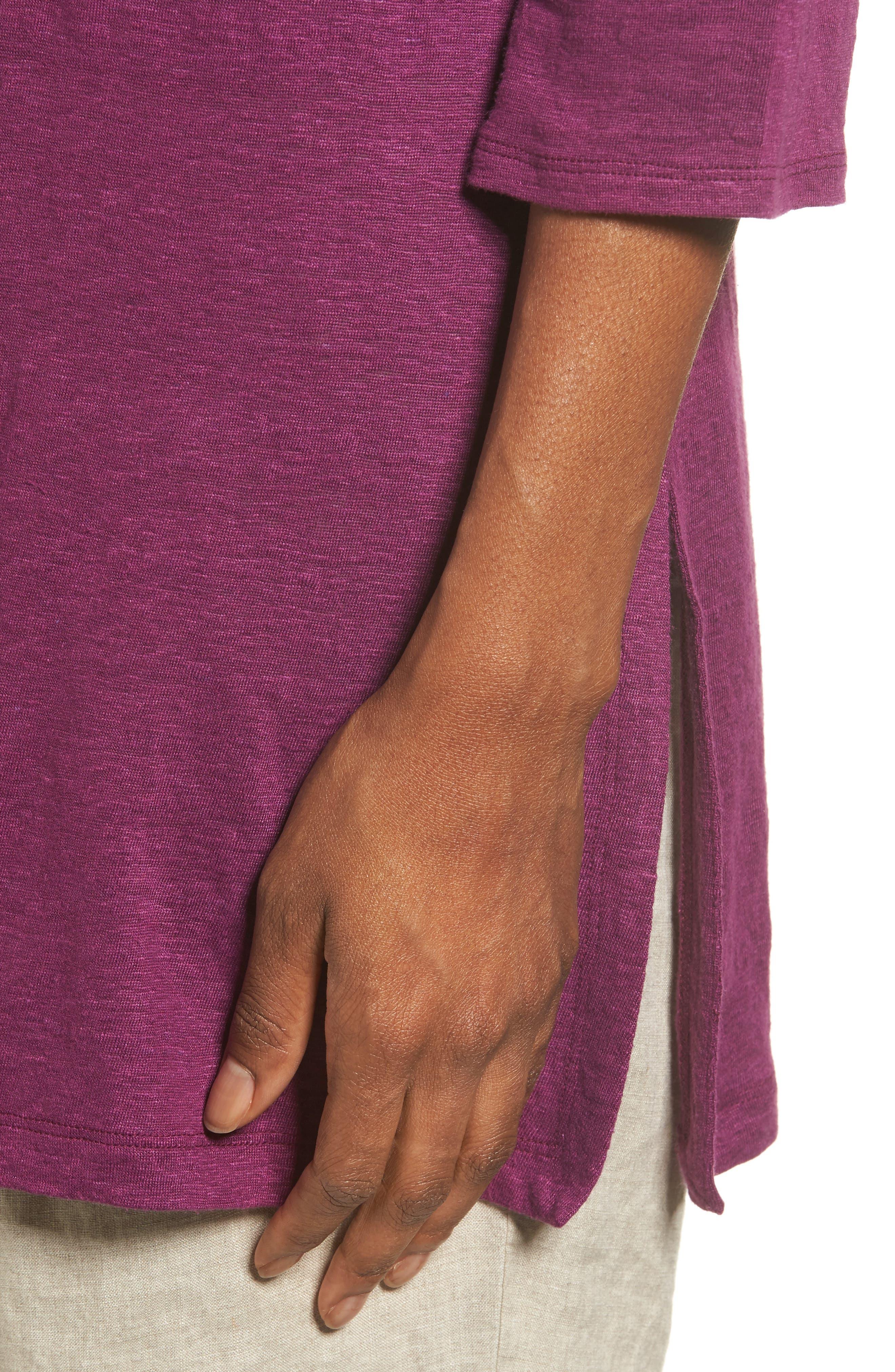 Bateau Neck Organic Linen Tunic,                             Alternate thumbnail 58, color,