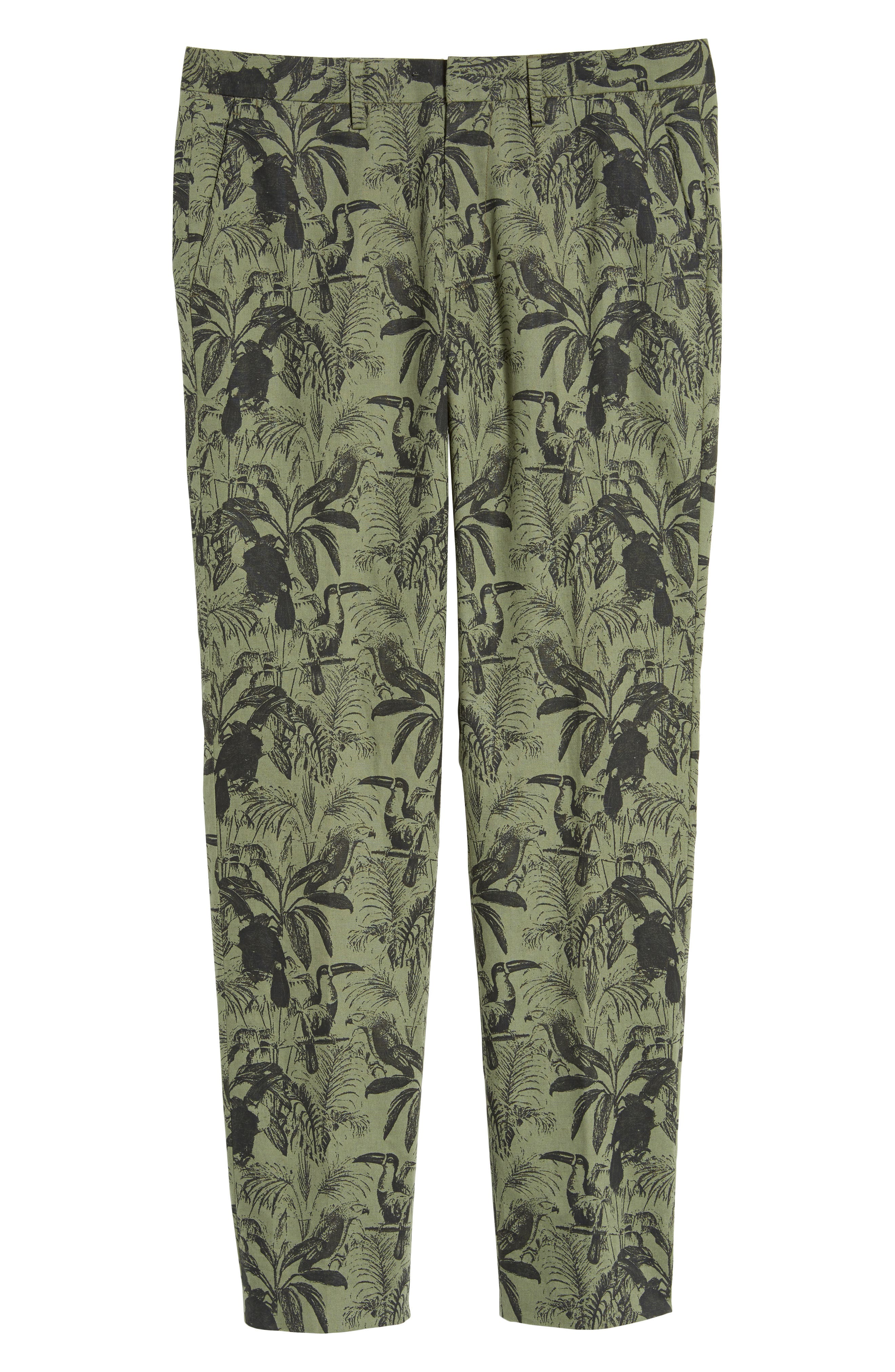 Foundation Print Slim Fit Trousers,                             Alternate thumbnail 6, color,                             300