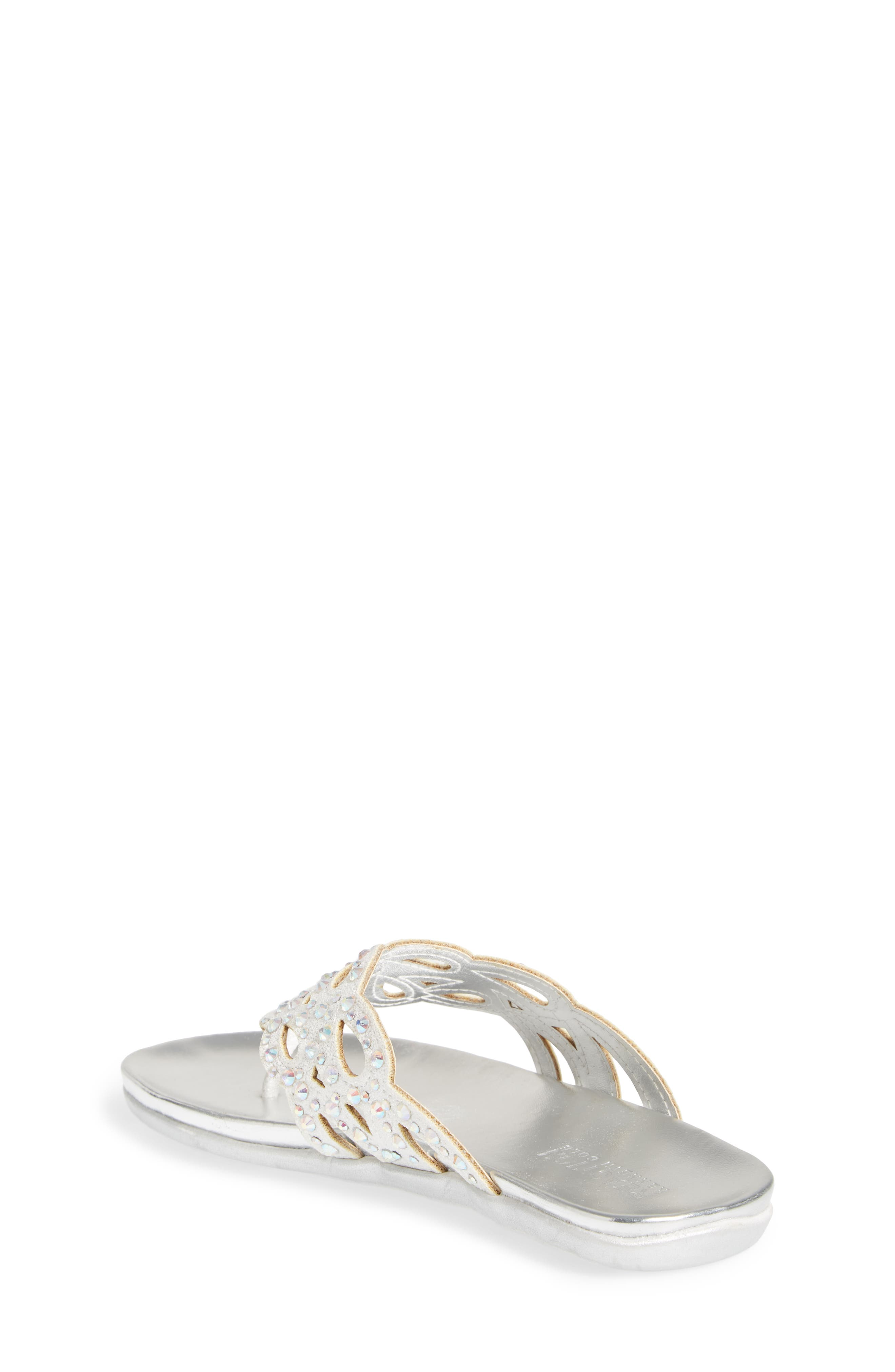 REACTION KENNETH COLE,                             Kenneth Cole New York Flutter Metallic Crystal Thong Sandal,                             Alternate thumbnail 2, color,                             044