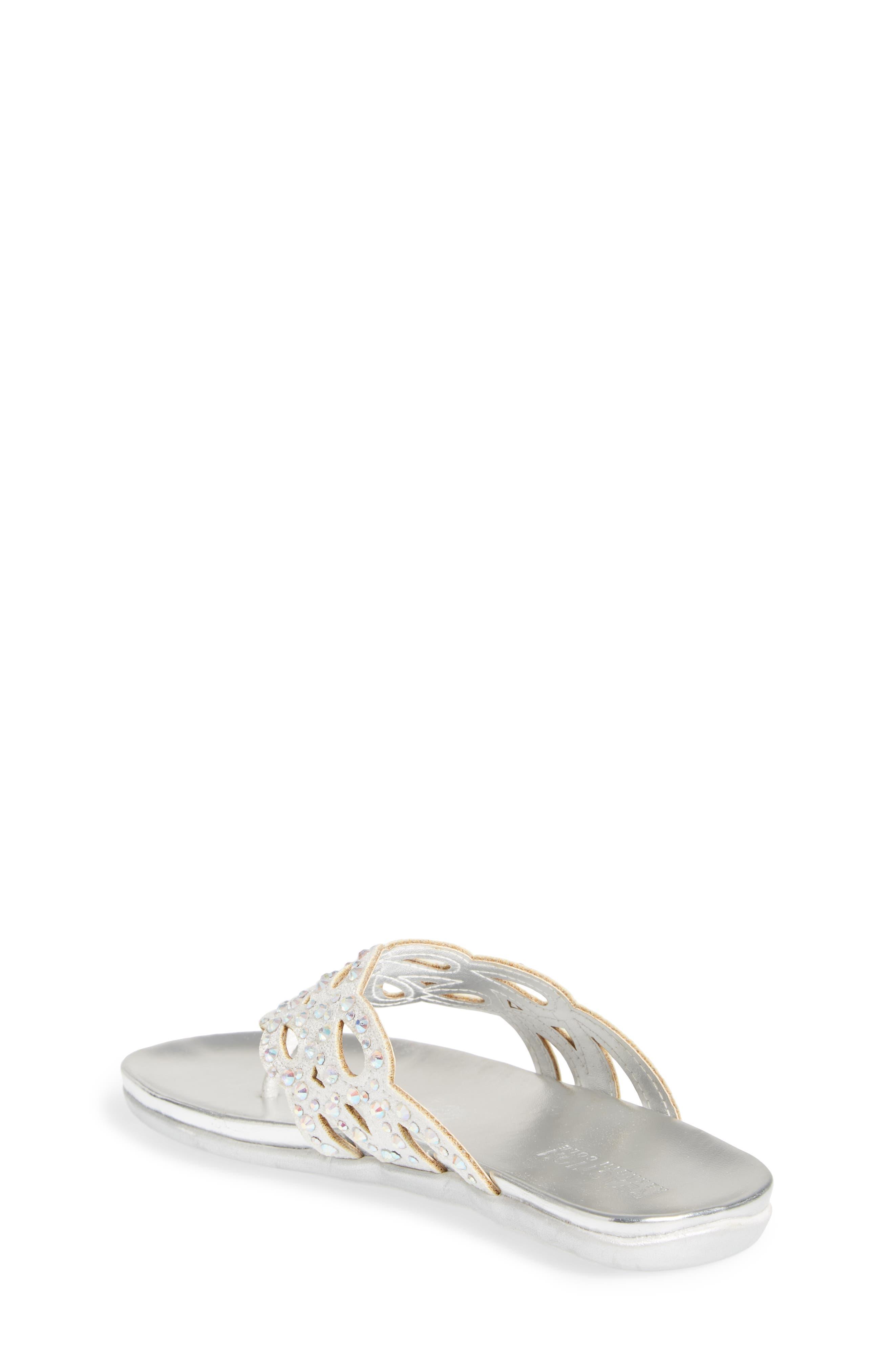 Kenneth Cole New York Flutter Metallic Crystal Thong Sandal,                             Alternate thumbnail 2, color,                             044
