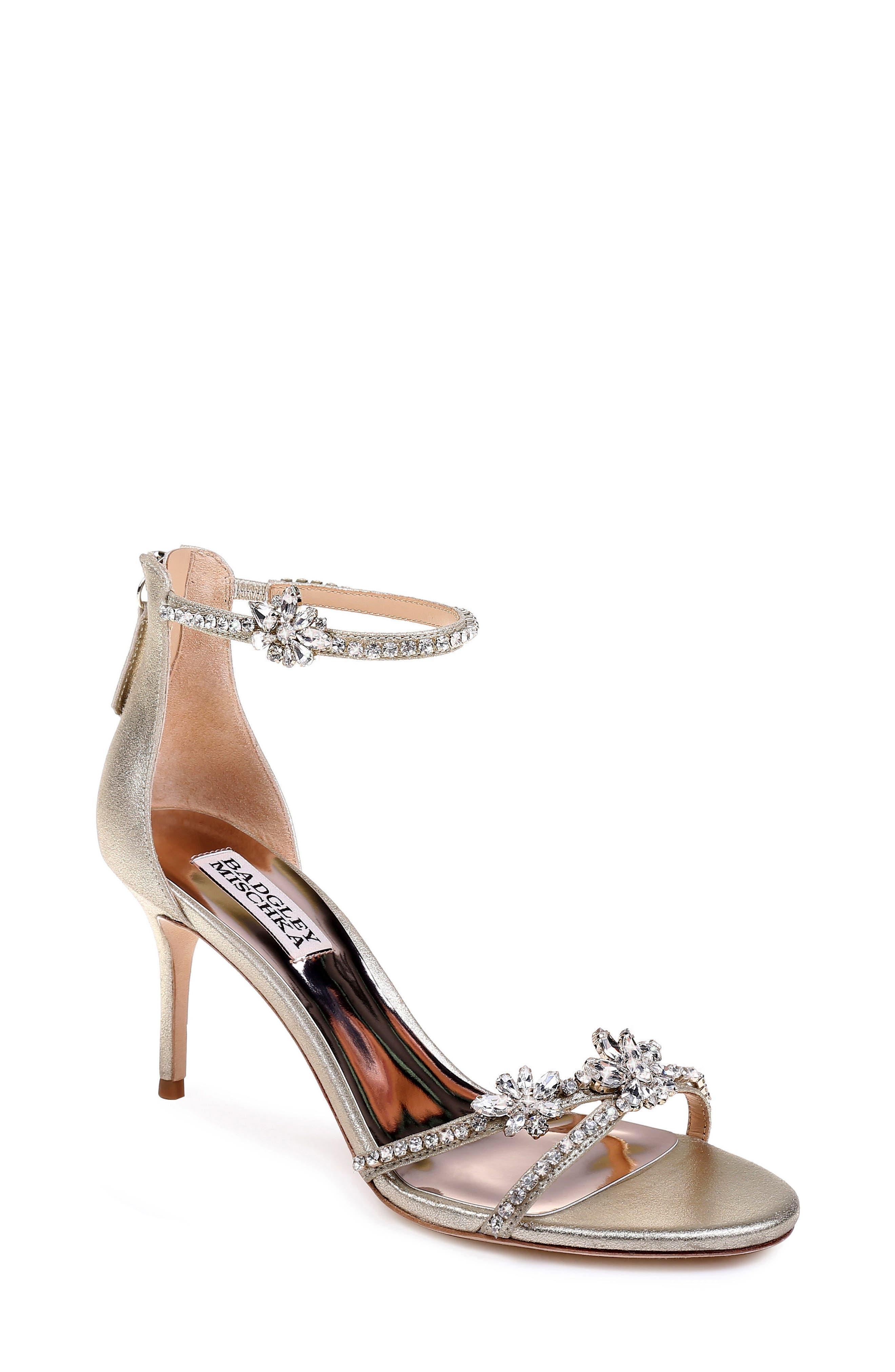 Badgley Mischka Hobbs Ankle Strap Sandal, Metallic