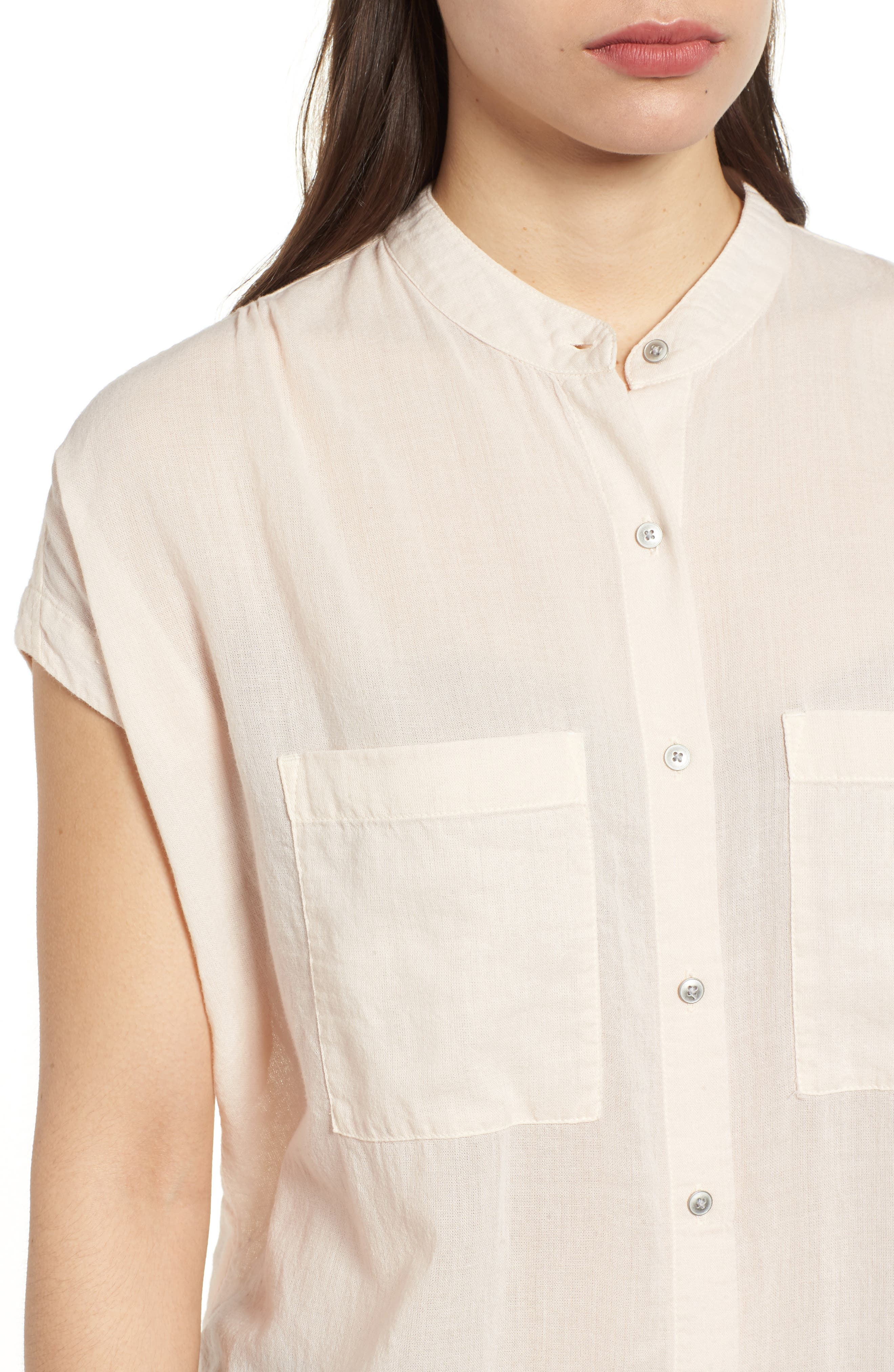 Button Front Longline Top,                             Alternate thumbnail 28, color,