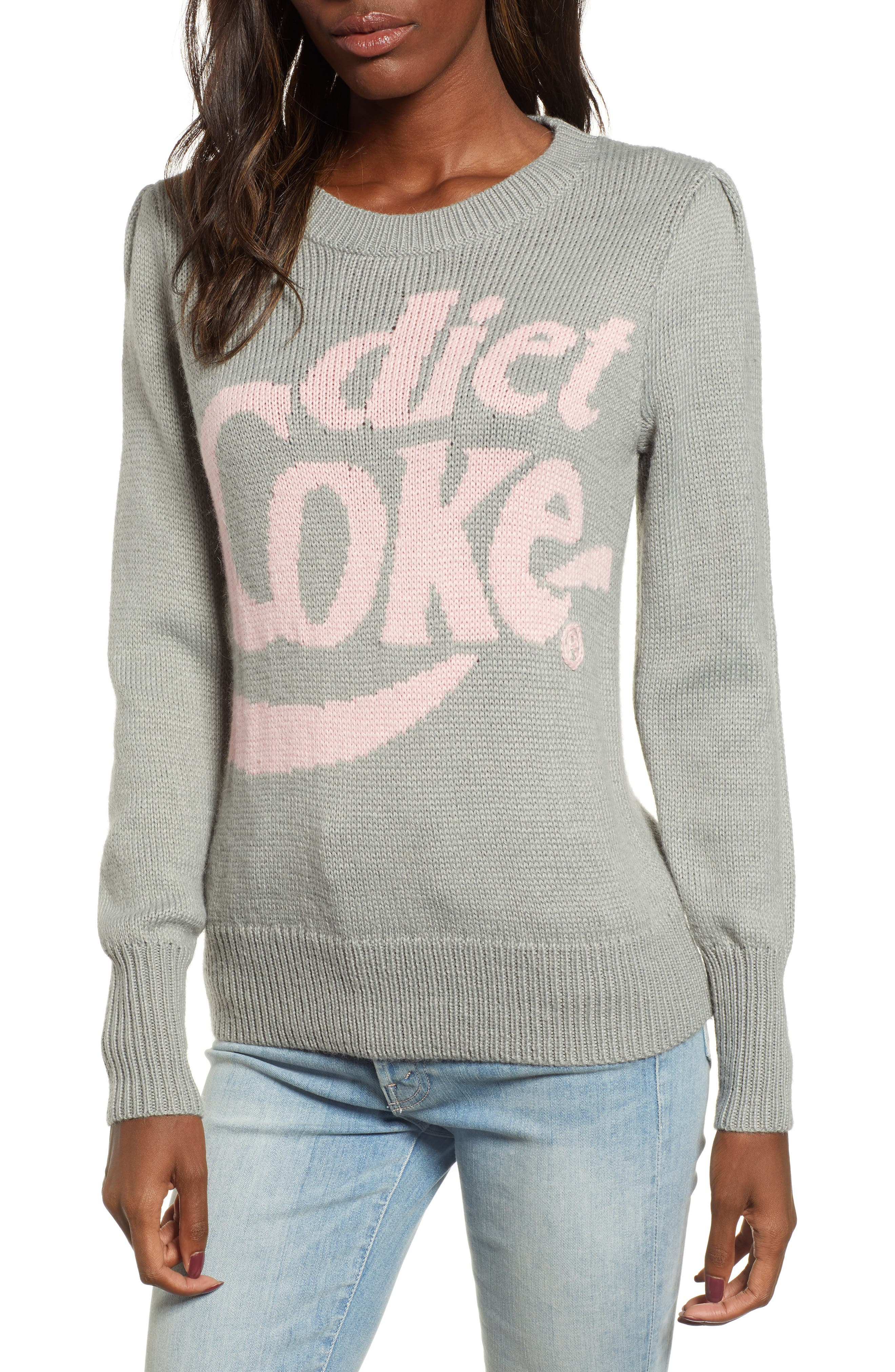 WILDFOX,                             Diet Coke<sup>®</sup> Sweater,                             Main thumbnail 1, color,                             050