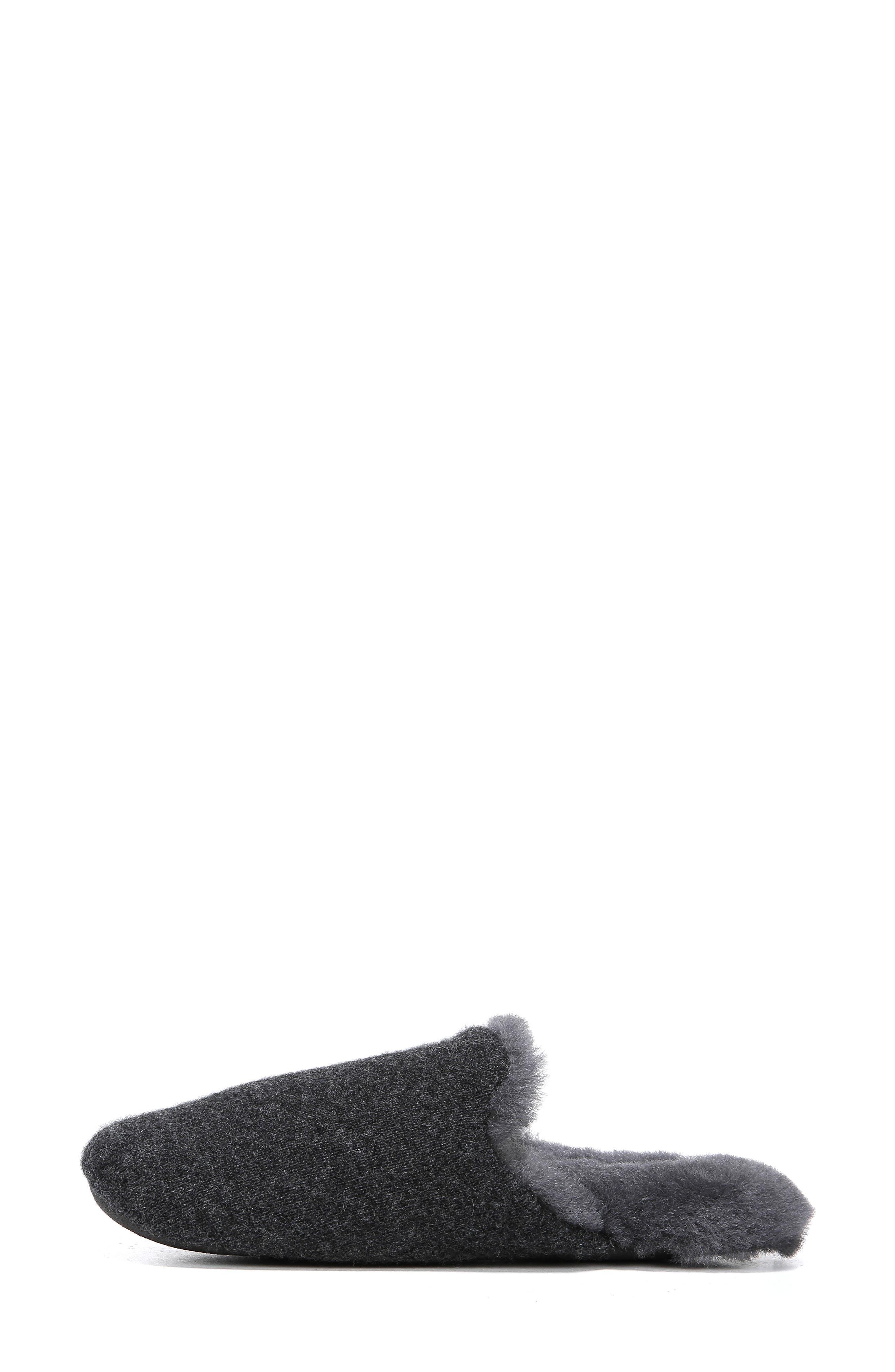 Cadie Genuine Shearling Slipper,                             Alternate thumbnail 9, color,                             CHARCOAL