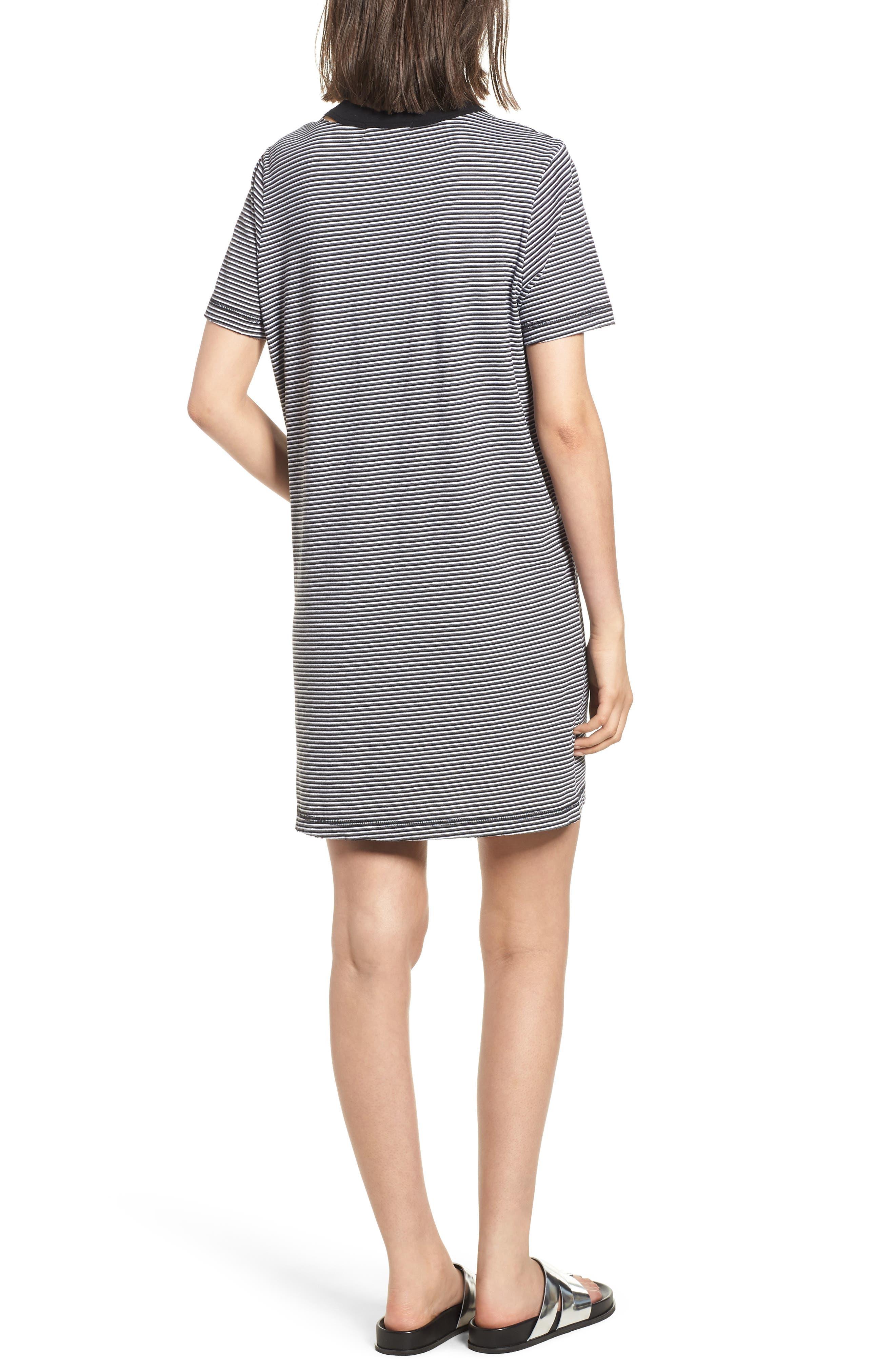Azul Ringer Stripe T-Shirt Dress,                             Alternate thumbnail 2, color,                             400