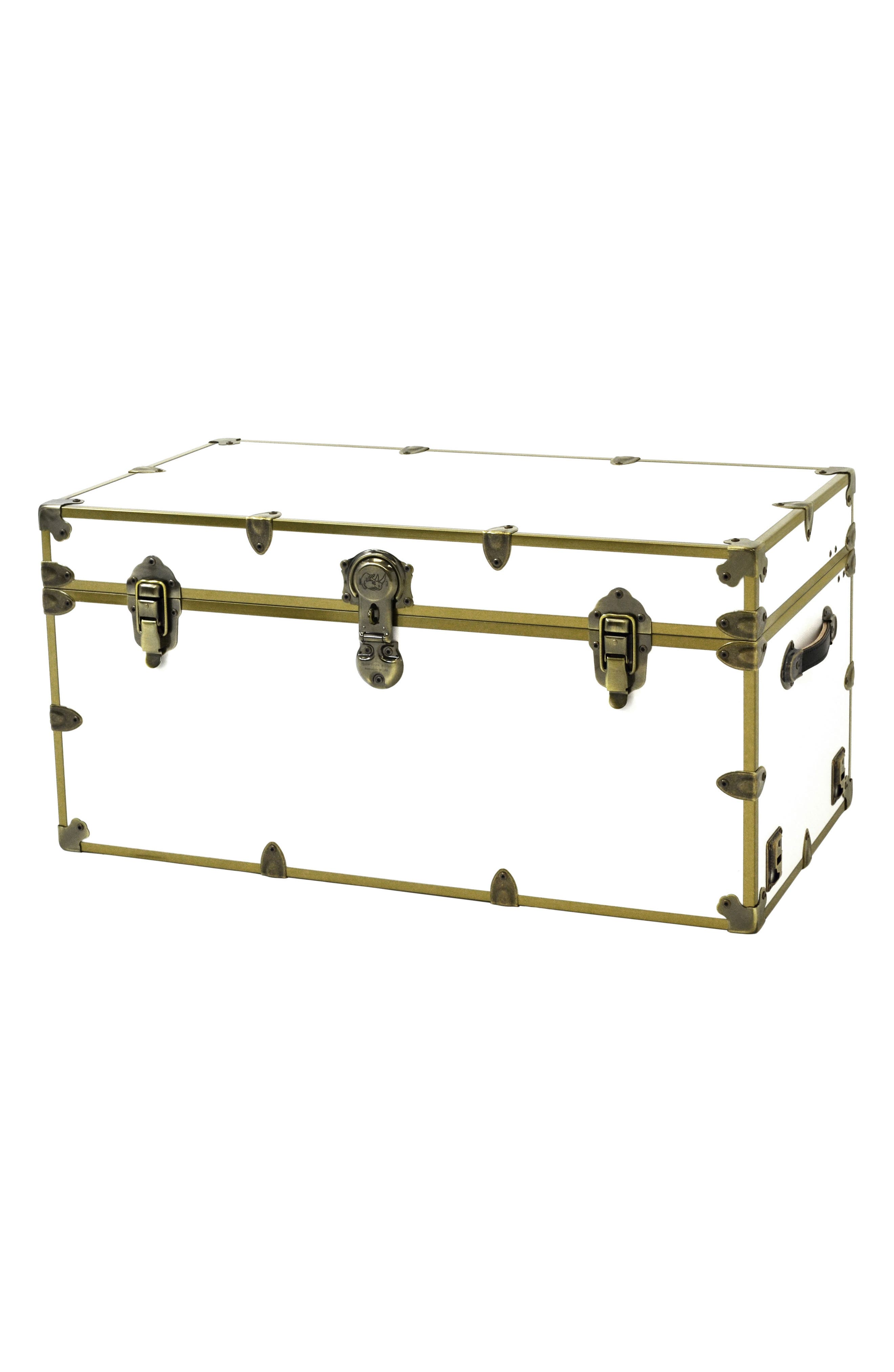 Rhino Trunk  Case Xxl Brass Armor Trunk Size One Size  White