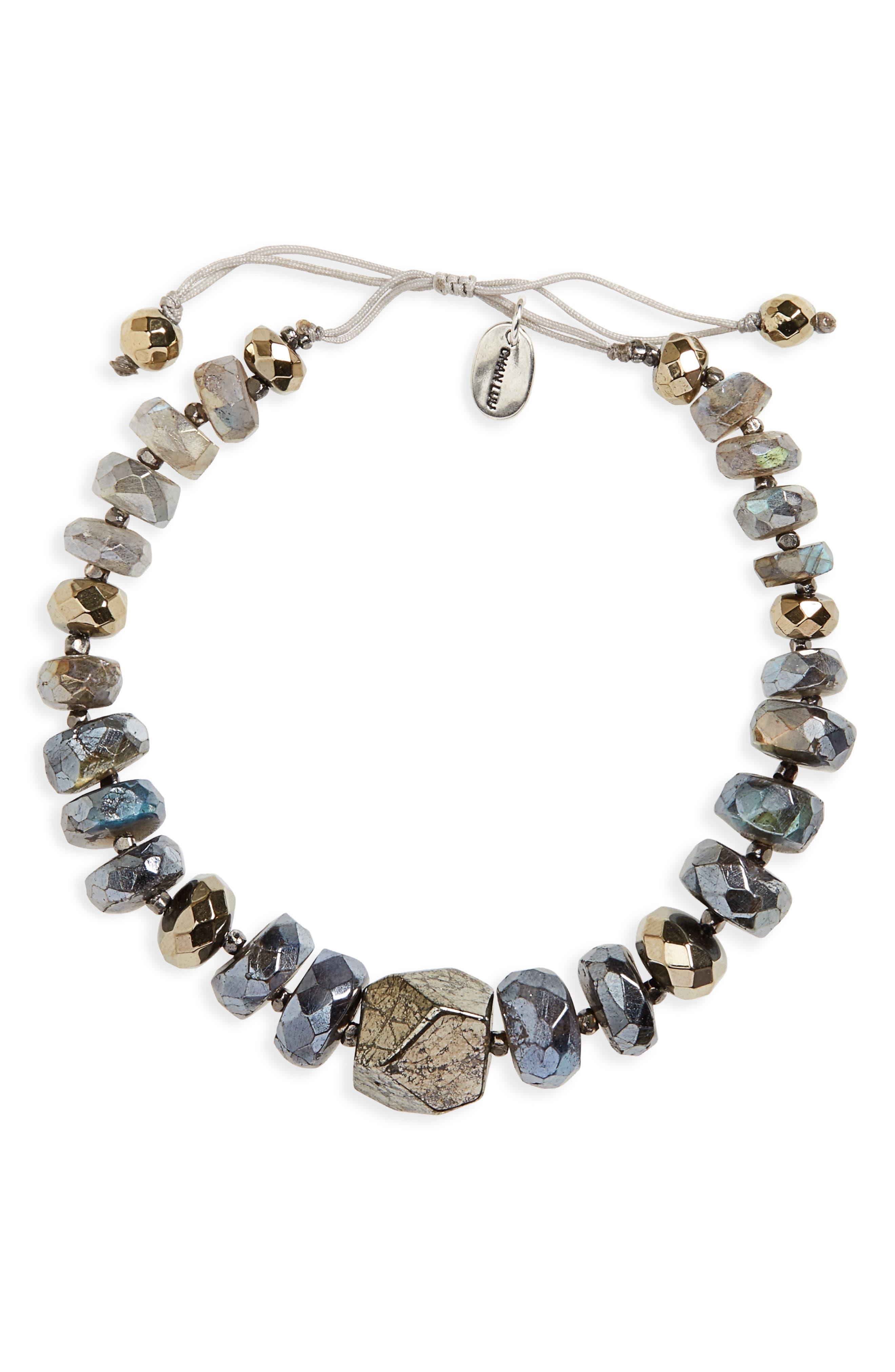 Semiprecious Stone Beaded Bracelet,                         Main,                         color, 040