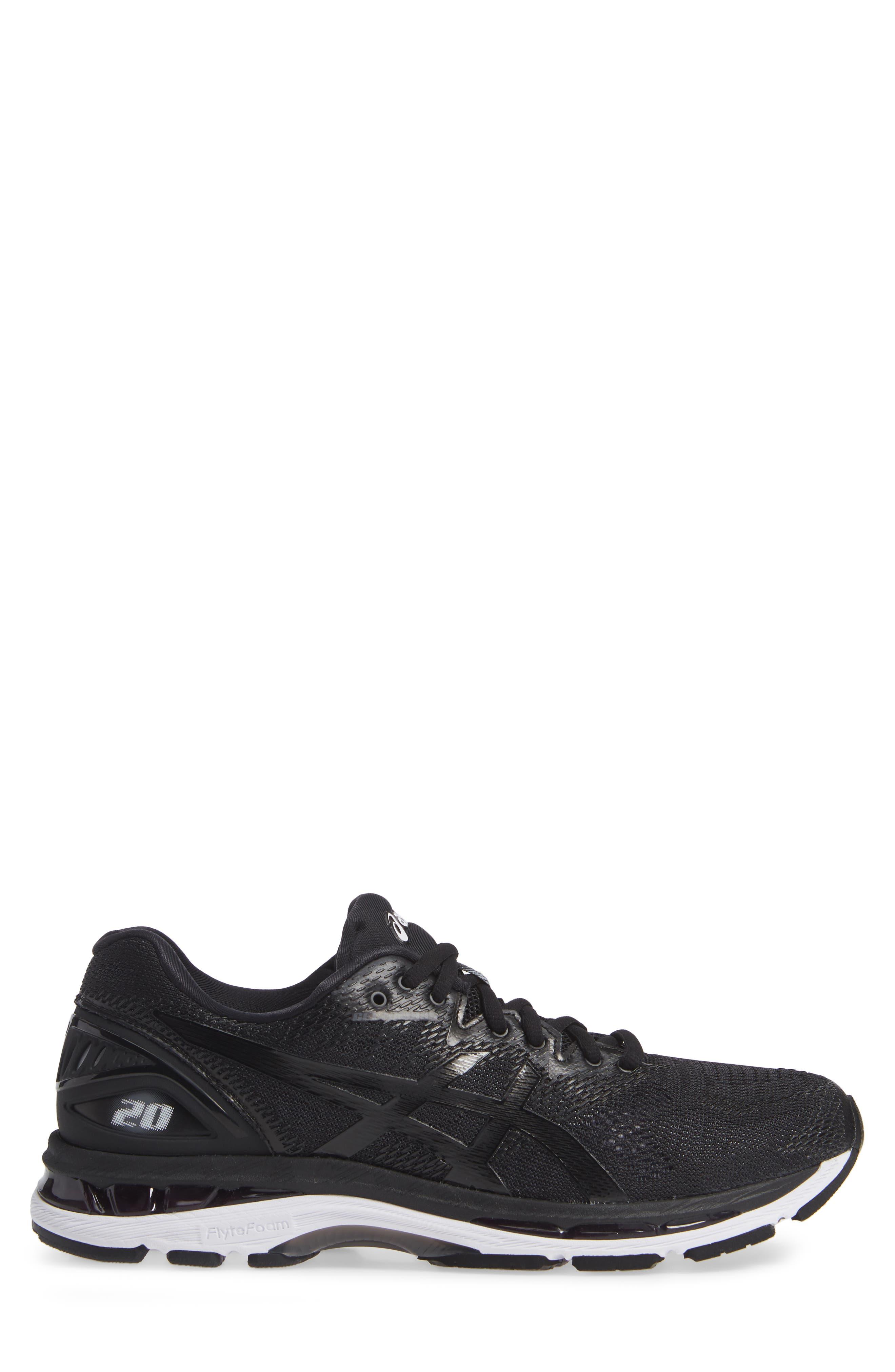GEL<sup>®</sup>-Nimbus 20 Running Shoe,                             Alternate thumbnail 3, color,                             BLACK/ WHITE/ CARBON