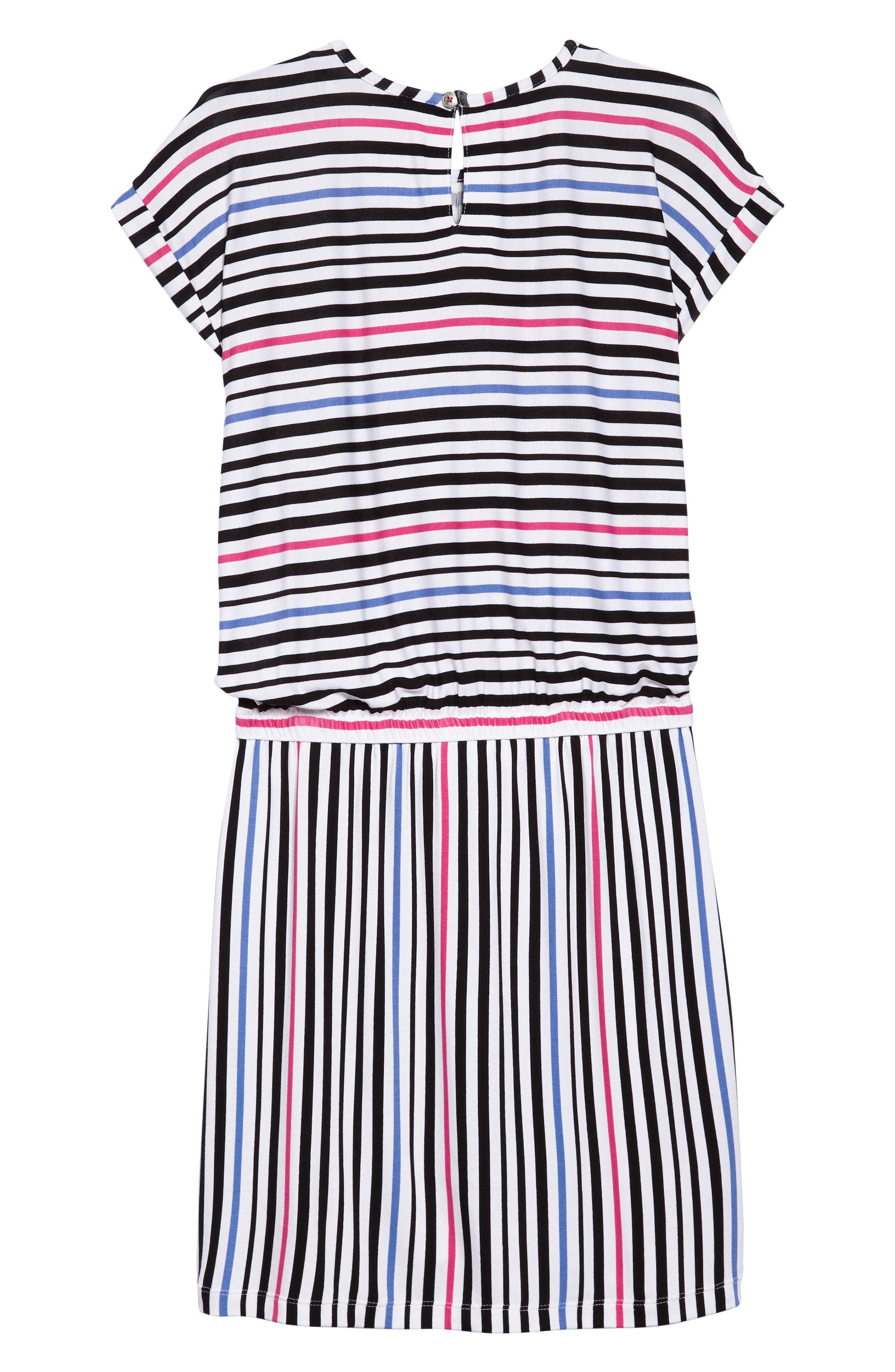Stripe Dress,                             Alternate thumbnail 2, color,                             100