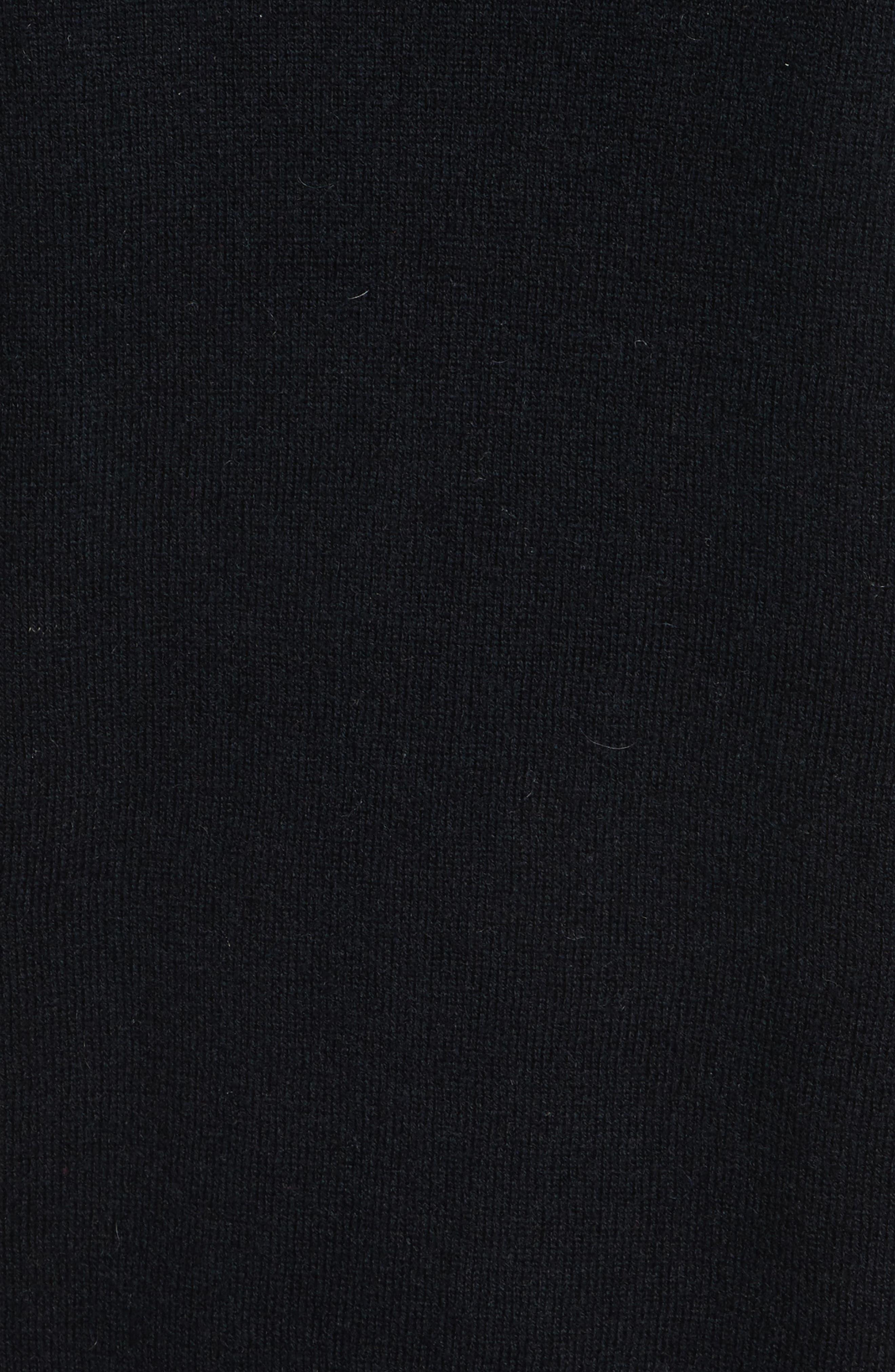 Genuine Fox Fur Collar Cardigan,                             Alternate thumbnail 5, color,