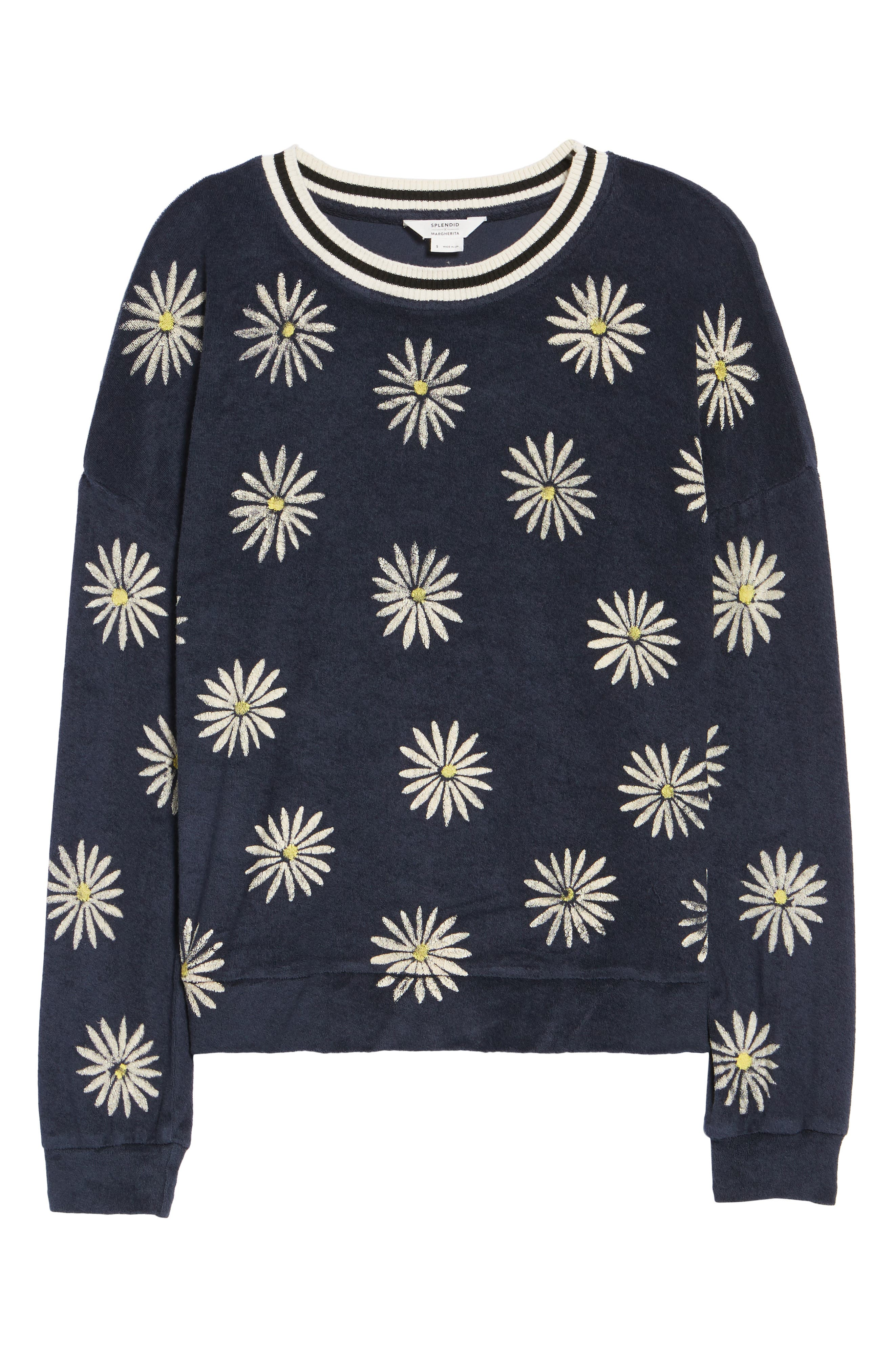 x Margherita Fiore Daisy Sweatshirt,                             Alternate thumbnail 7, color,                             411