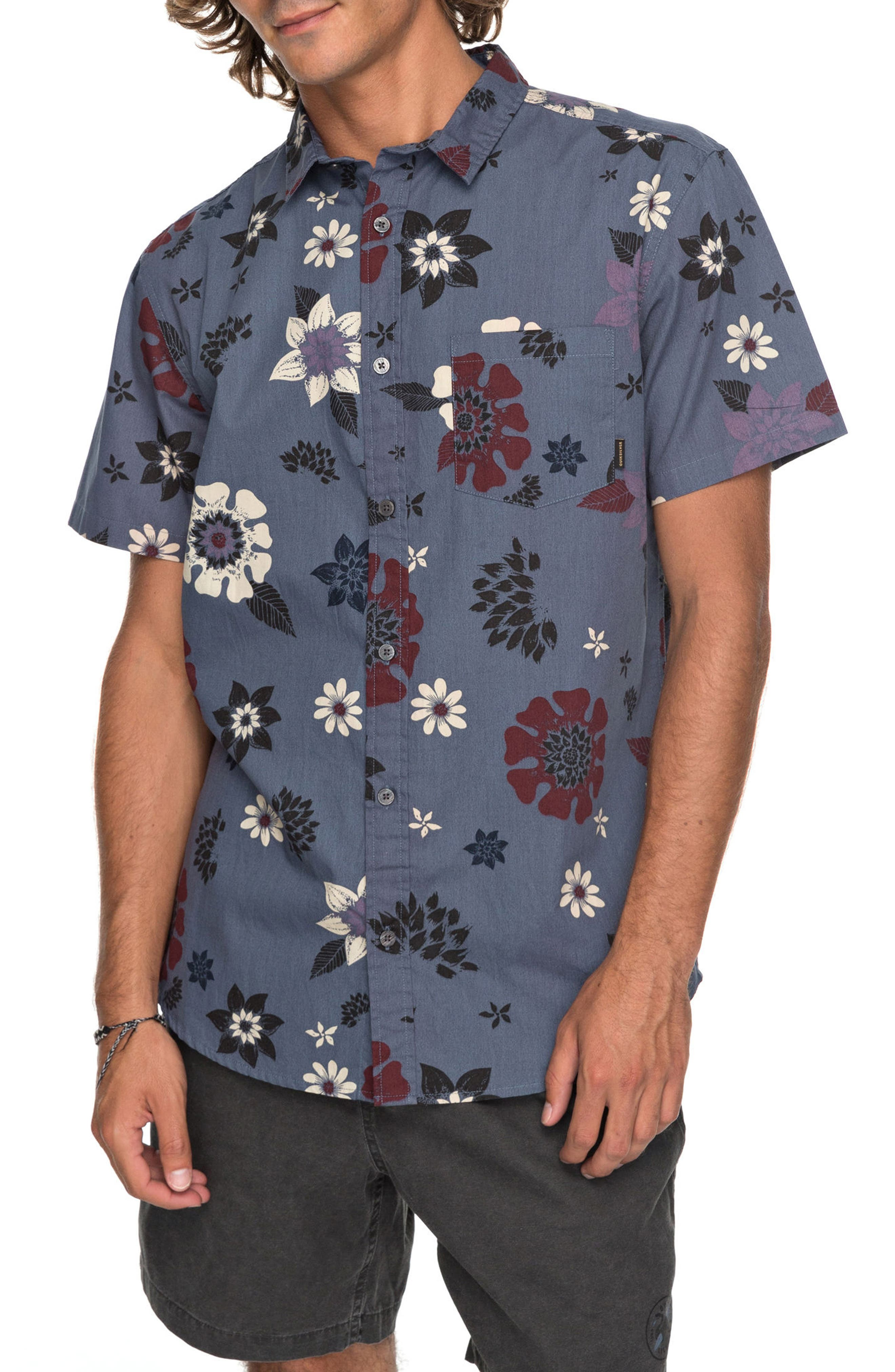 Sunset Floral Woven Shirt,                             Main thumbnail 1, color,                             020